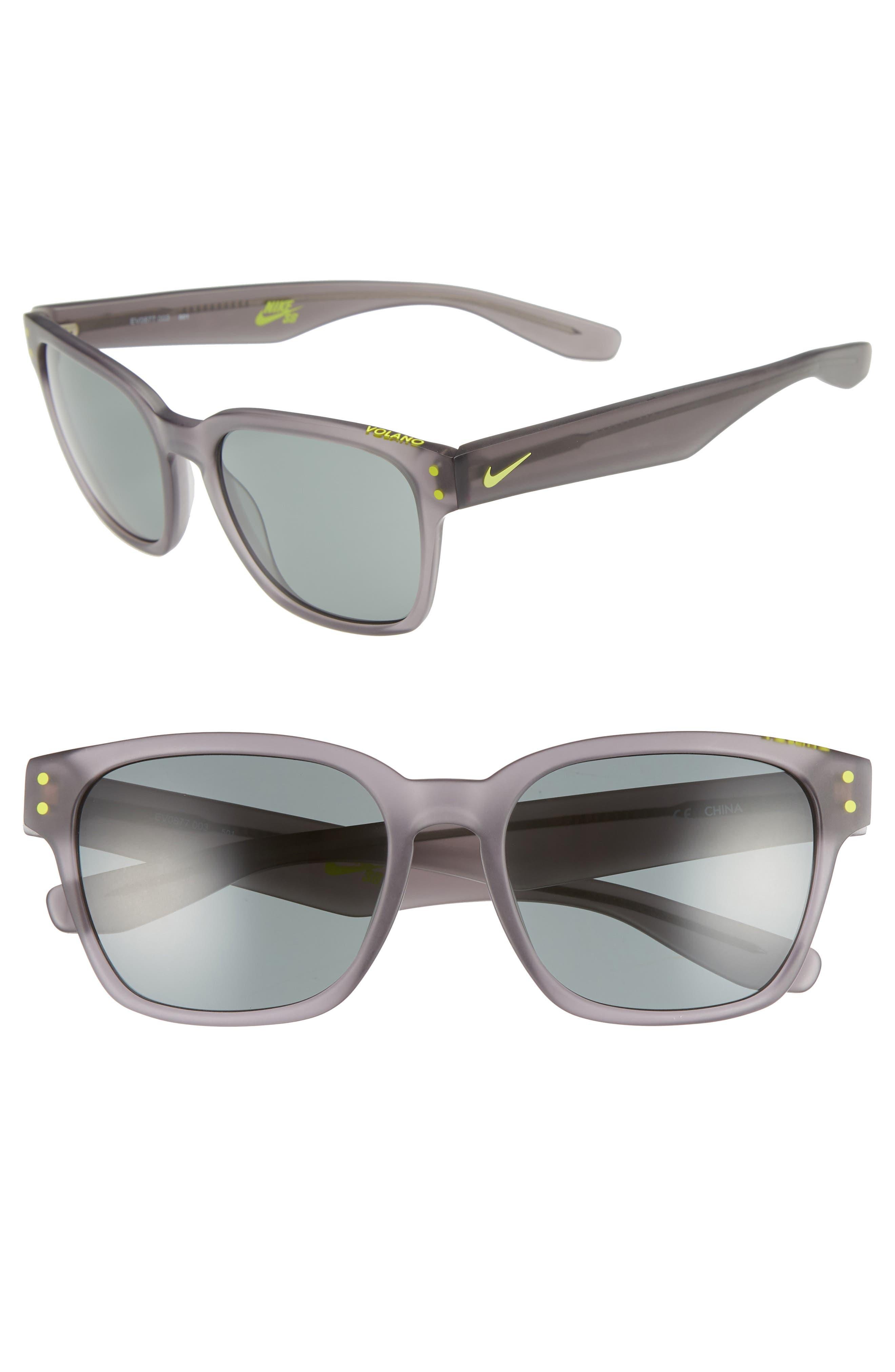 Nike Current 51Mm Sunglasses - Anthracite/ Gunmetal/ Green