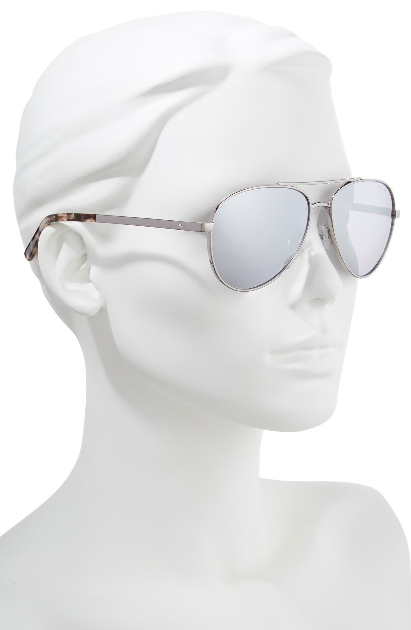 58mm Aviator Sunglasses,                             Alternate thumbnail 2, color,                             SILVER