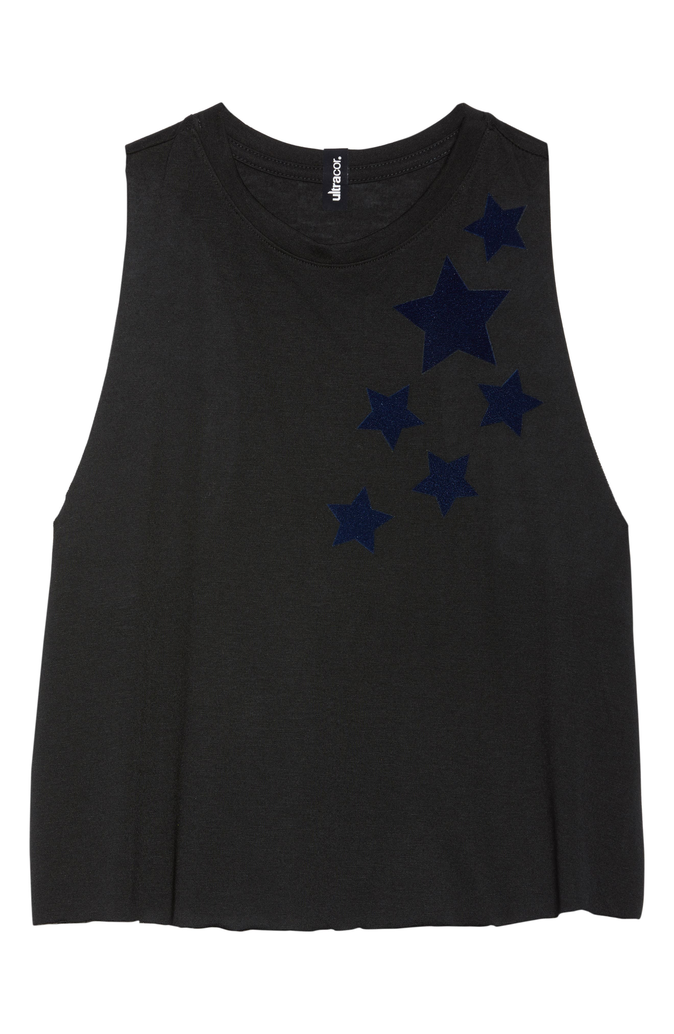 Velvet Stars Racerback Tank,                             Alternate thumbnail 7, color,                             NERO/ NAVY