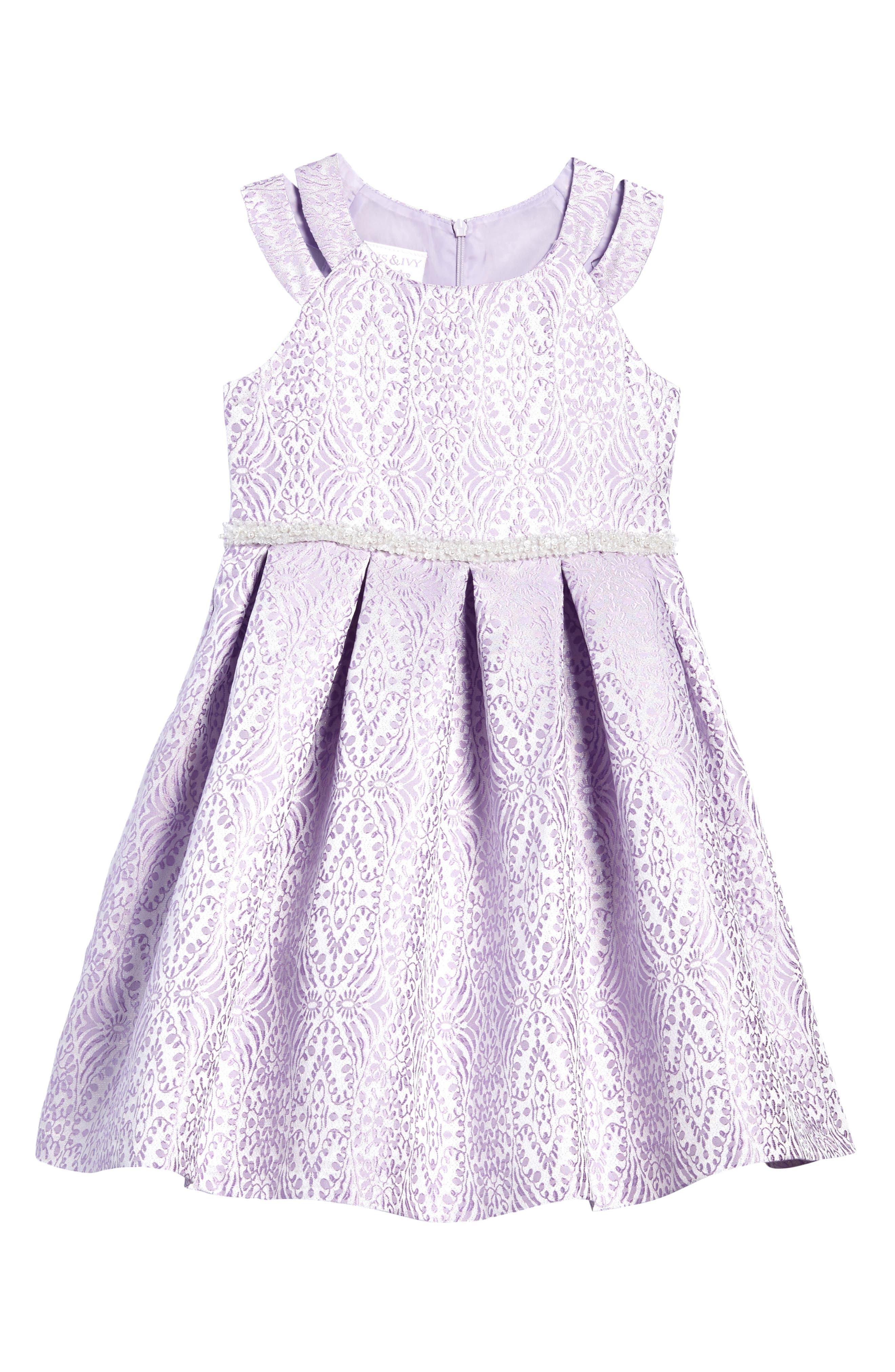 Jacquard Fit & Flare Dress,                         Main,                         color, 530