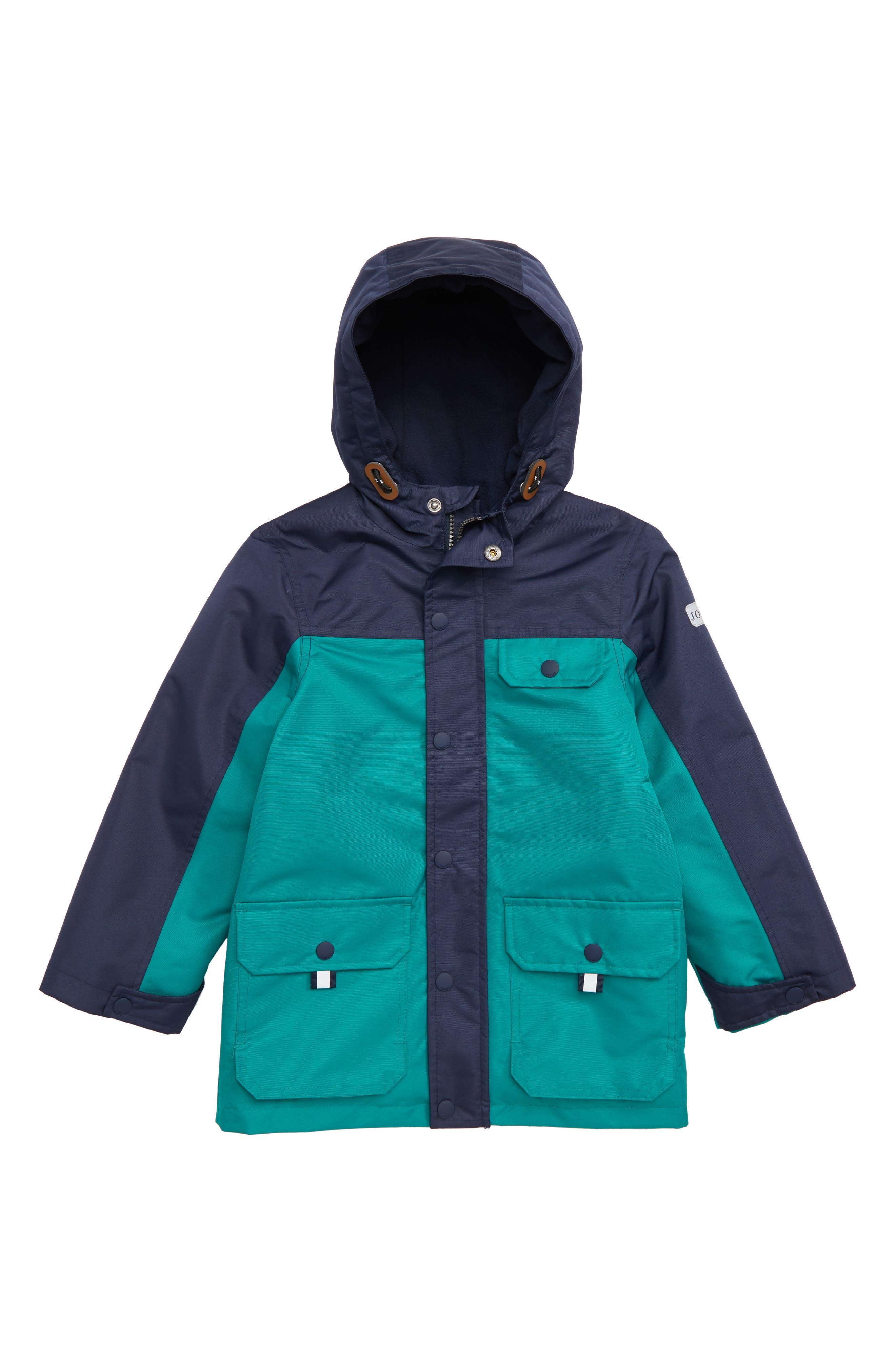 Hooded Waterproof Coat,                         Main,                         color, PINE GREEN