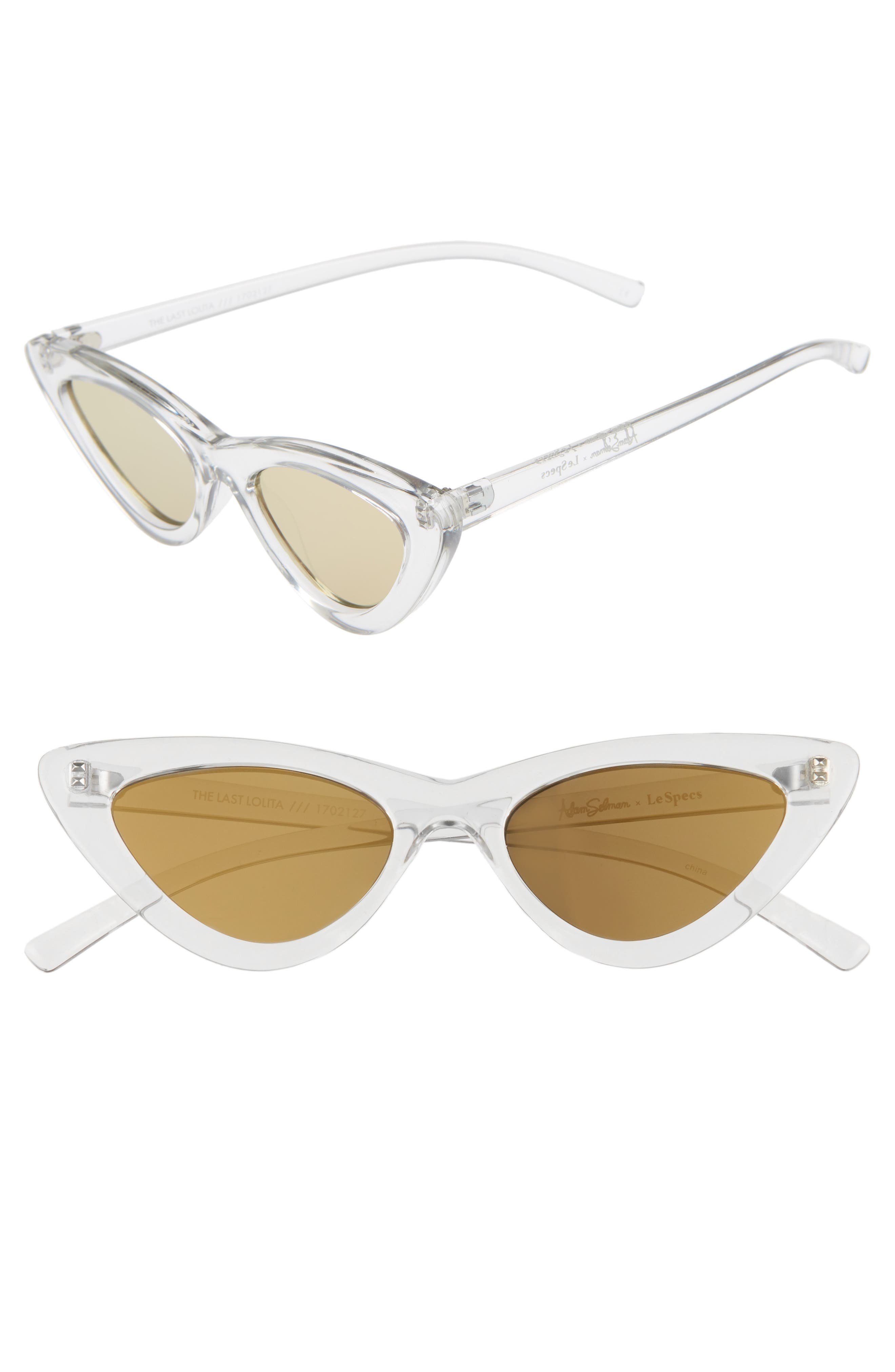 Adam Selman X Le Specs Luxe Lolita 4m Cat Eye Sunglasses - Crystal Grey