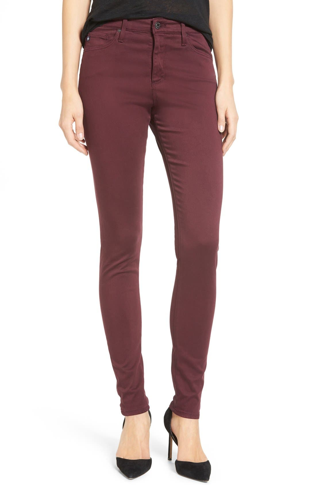 The Farrah High Rise Skinny Jeans,                             Alternate thumbnail 25, color,