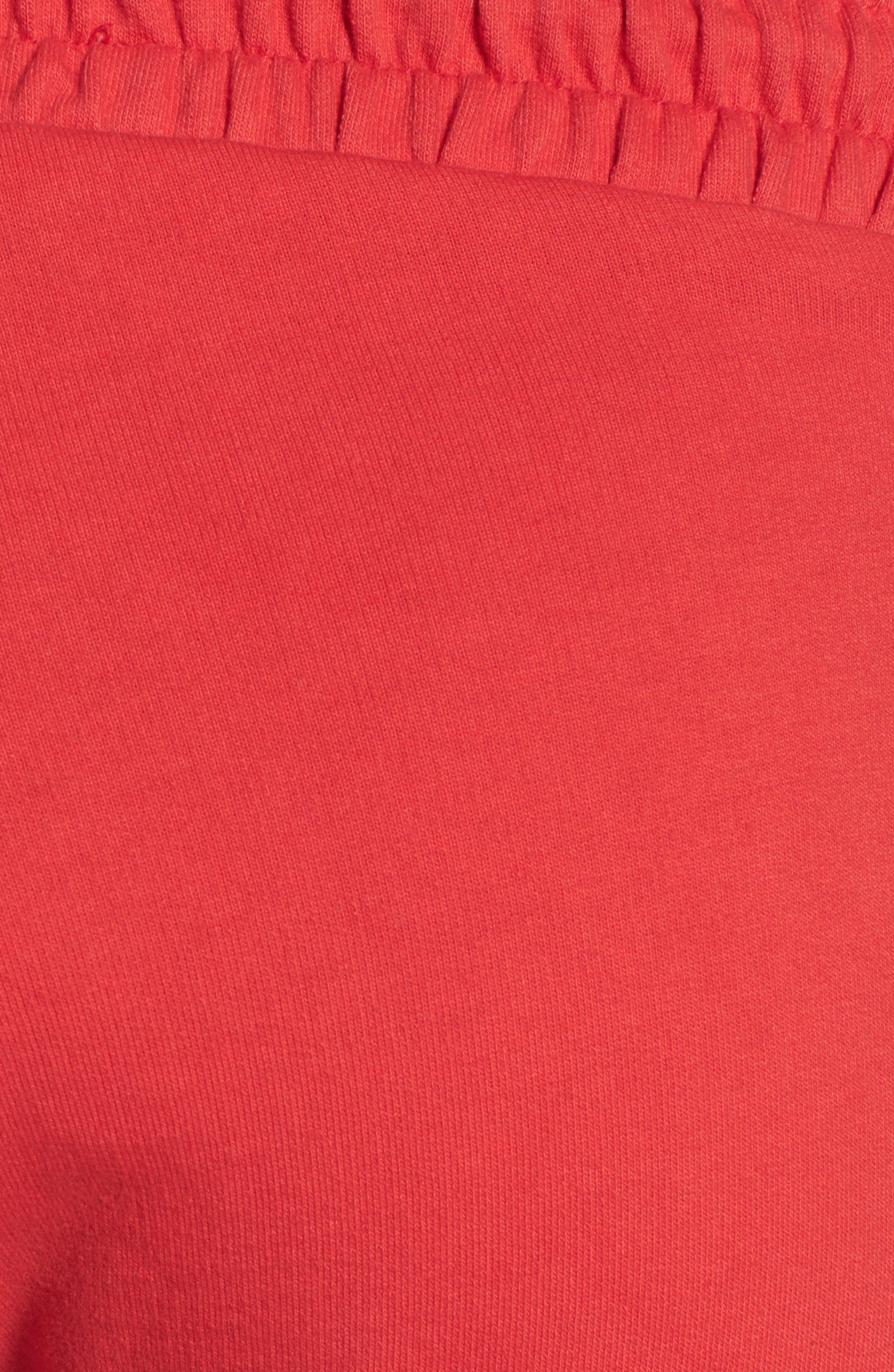 ME. Rose Sweatpants,                             Alternate thumbnail 7, color,                             CHERRY RED