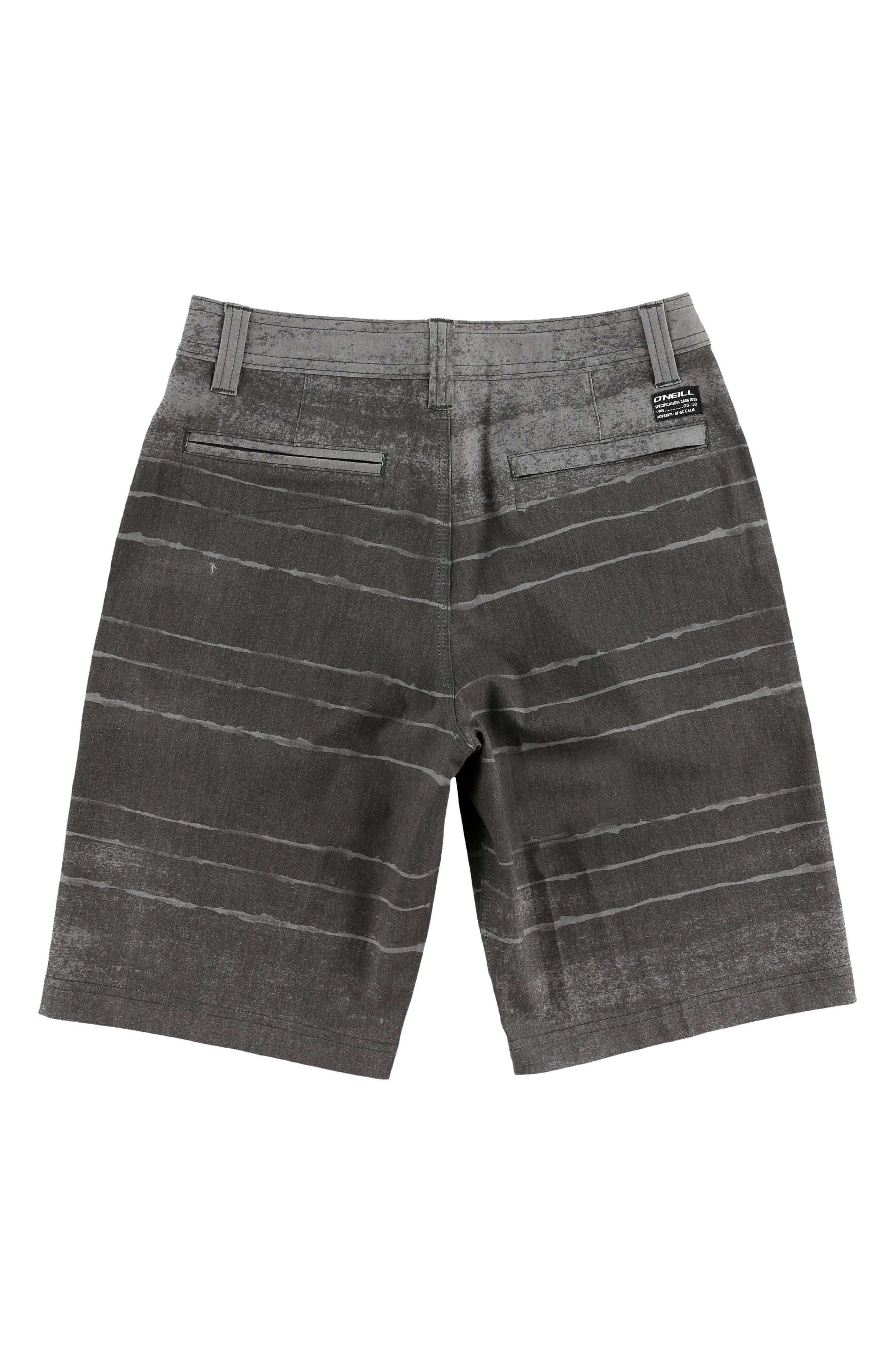 O'NEILL,                             Tye Striper Hybrid Shorts,                             Alternate thumbnail 2, color,                             ASPHALT