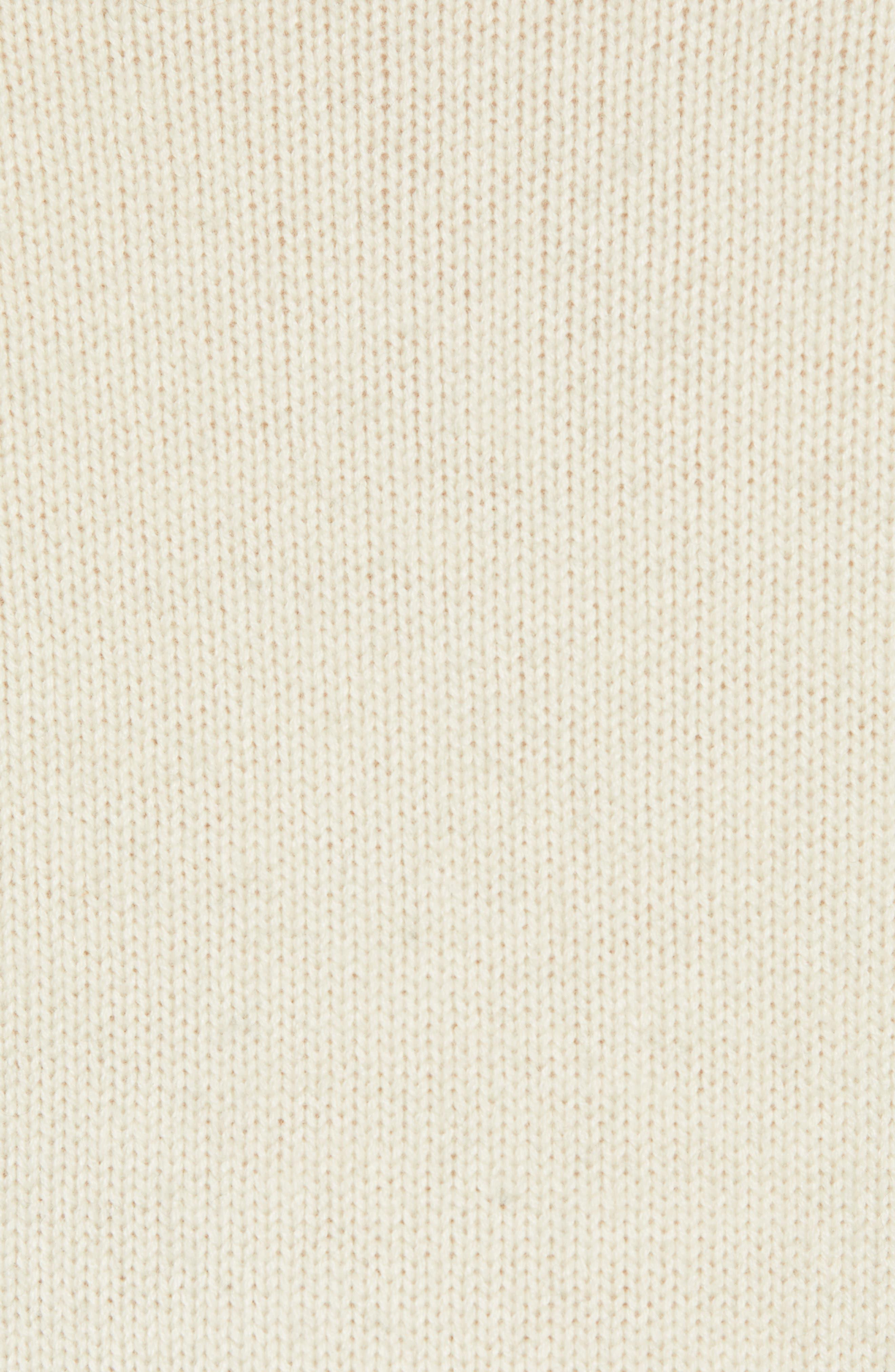 Colorblock Turtleneck Sweater,                             Alternate thumbnail 5, color,                             FOG MID GREY MELANGE
