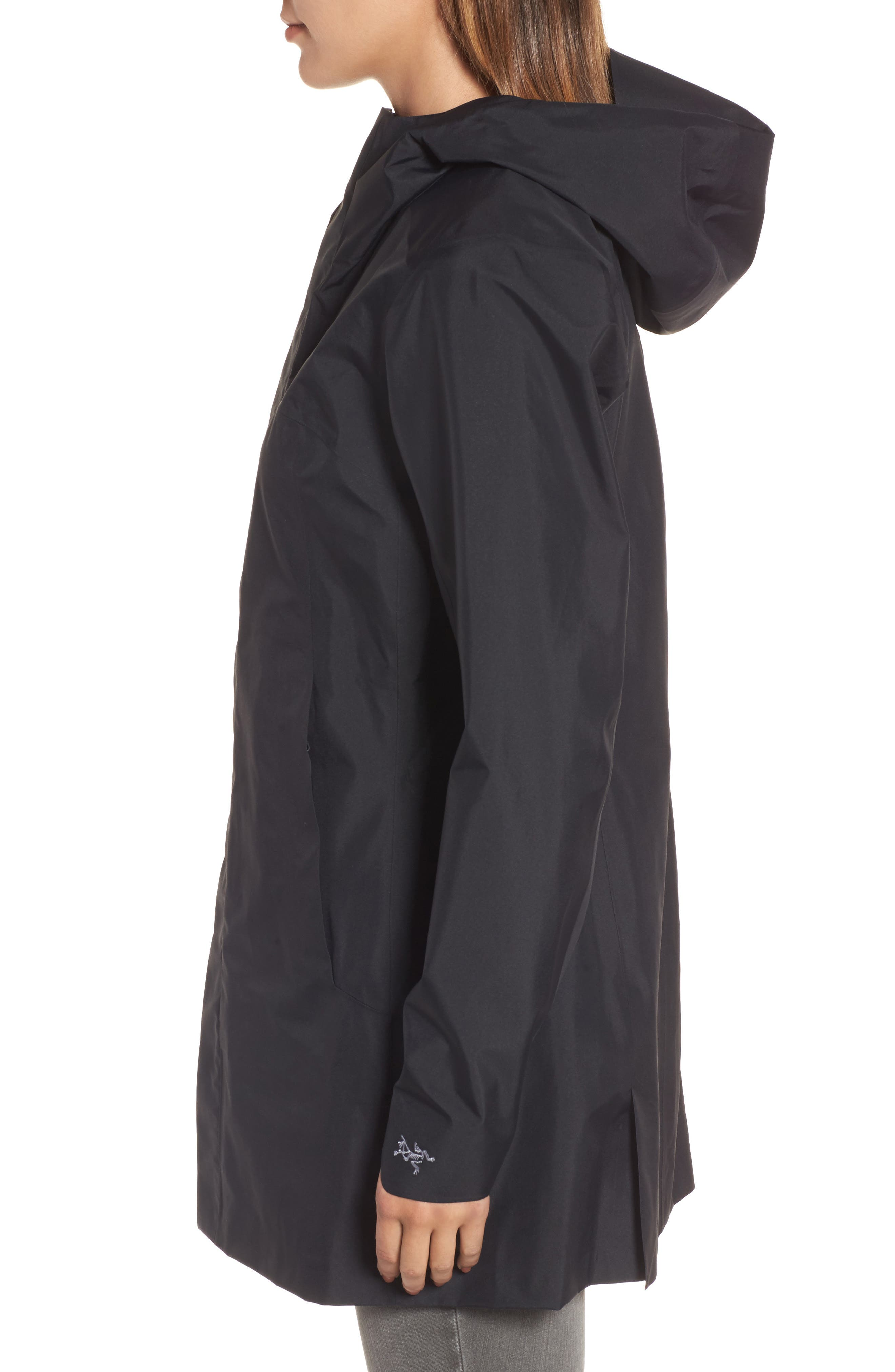 'Codetta' Waterproof Relaxed Fit Gore-Tex<sup>®</sup> 3L Rain Jacket,                             Alternate thumbnail 3, color,                             001