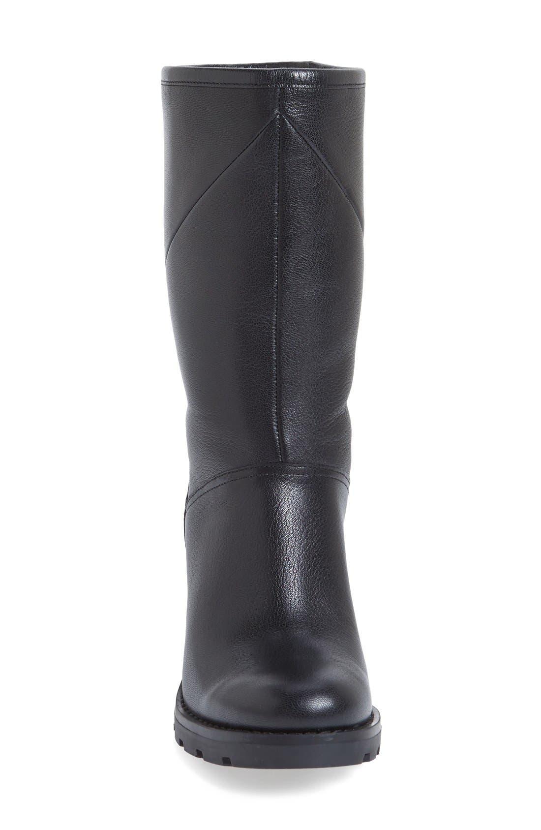 'Jessia' Water Resistant Block Heel Boot,                             Alternate thumbnail 3, color,                             001