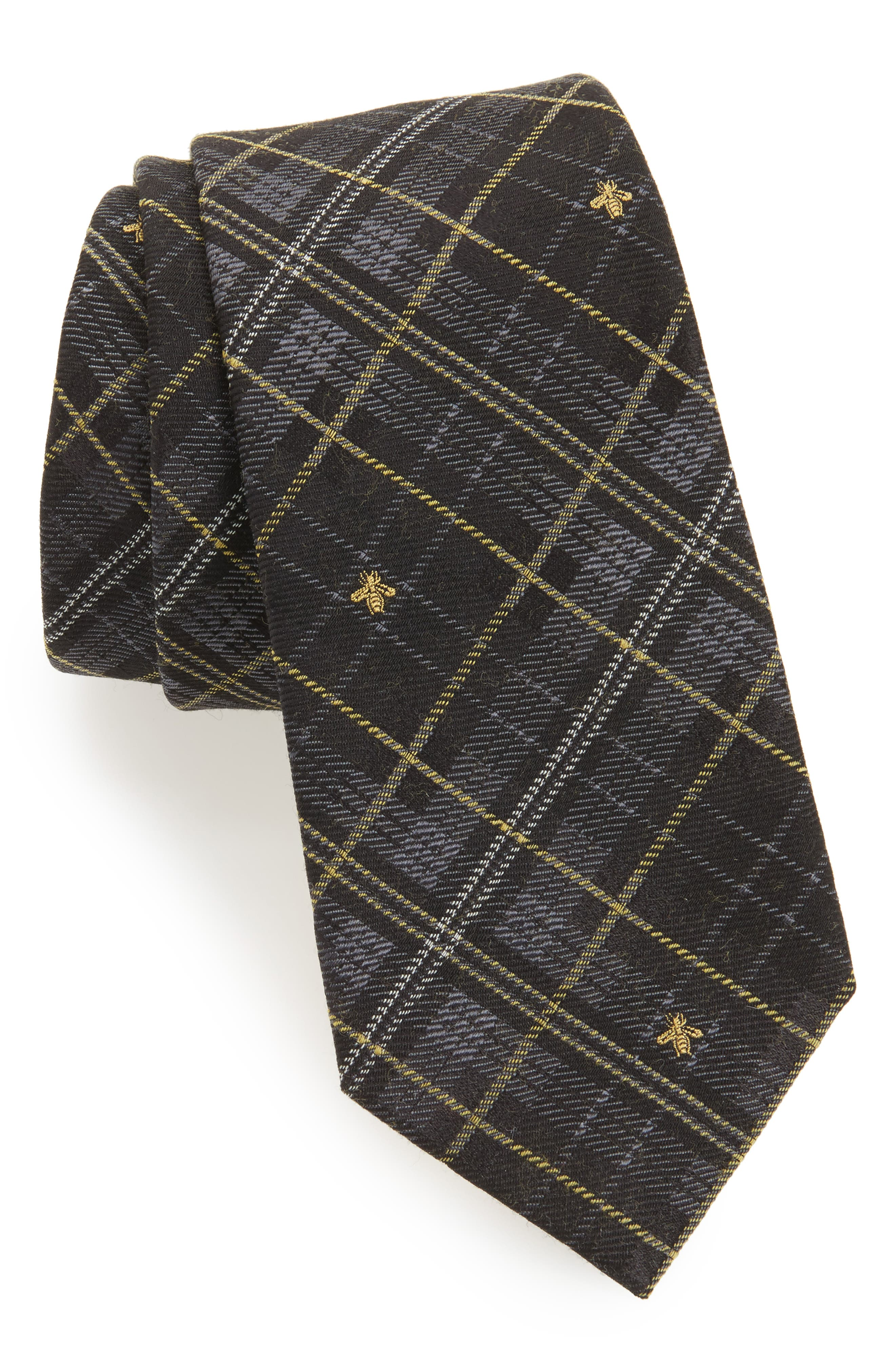 Kilt Bee Plaid Jacquard Tie,                         Main,                         color, 020