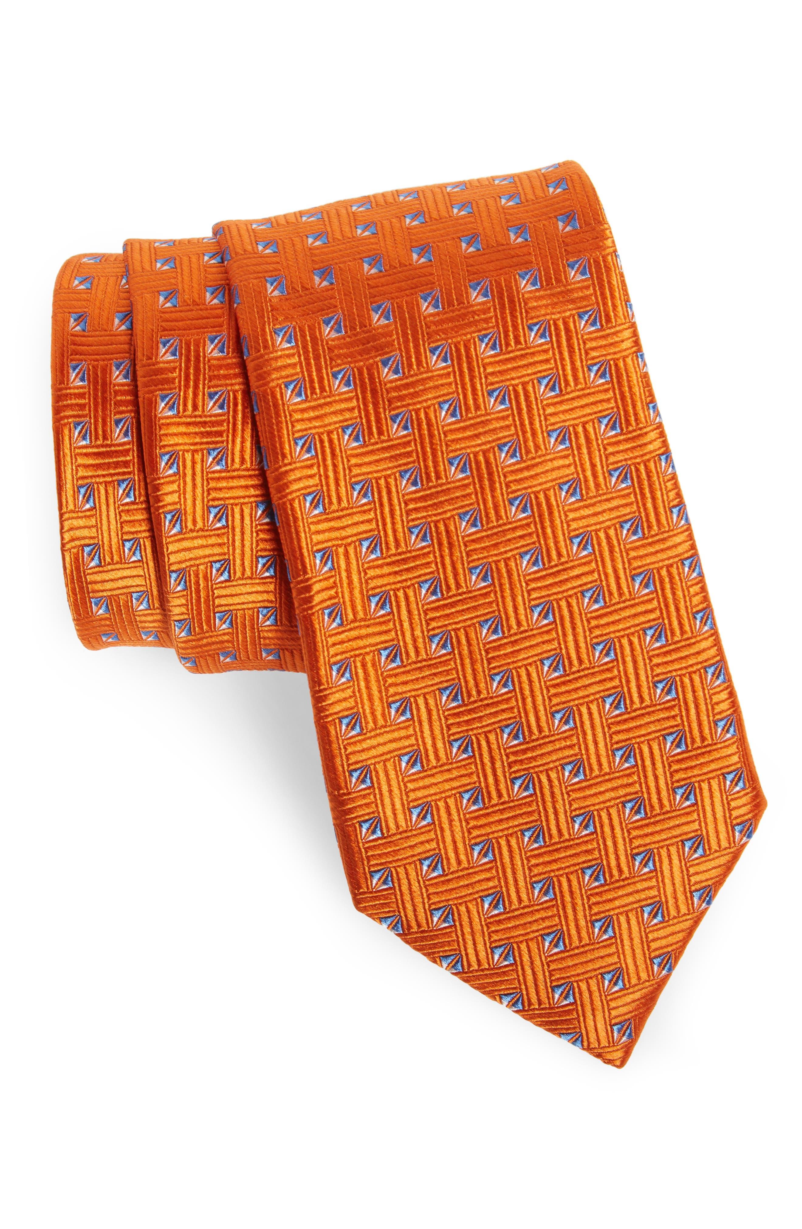 Geometric Silk Tie,                             Main thumbnail 7, color,