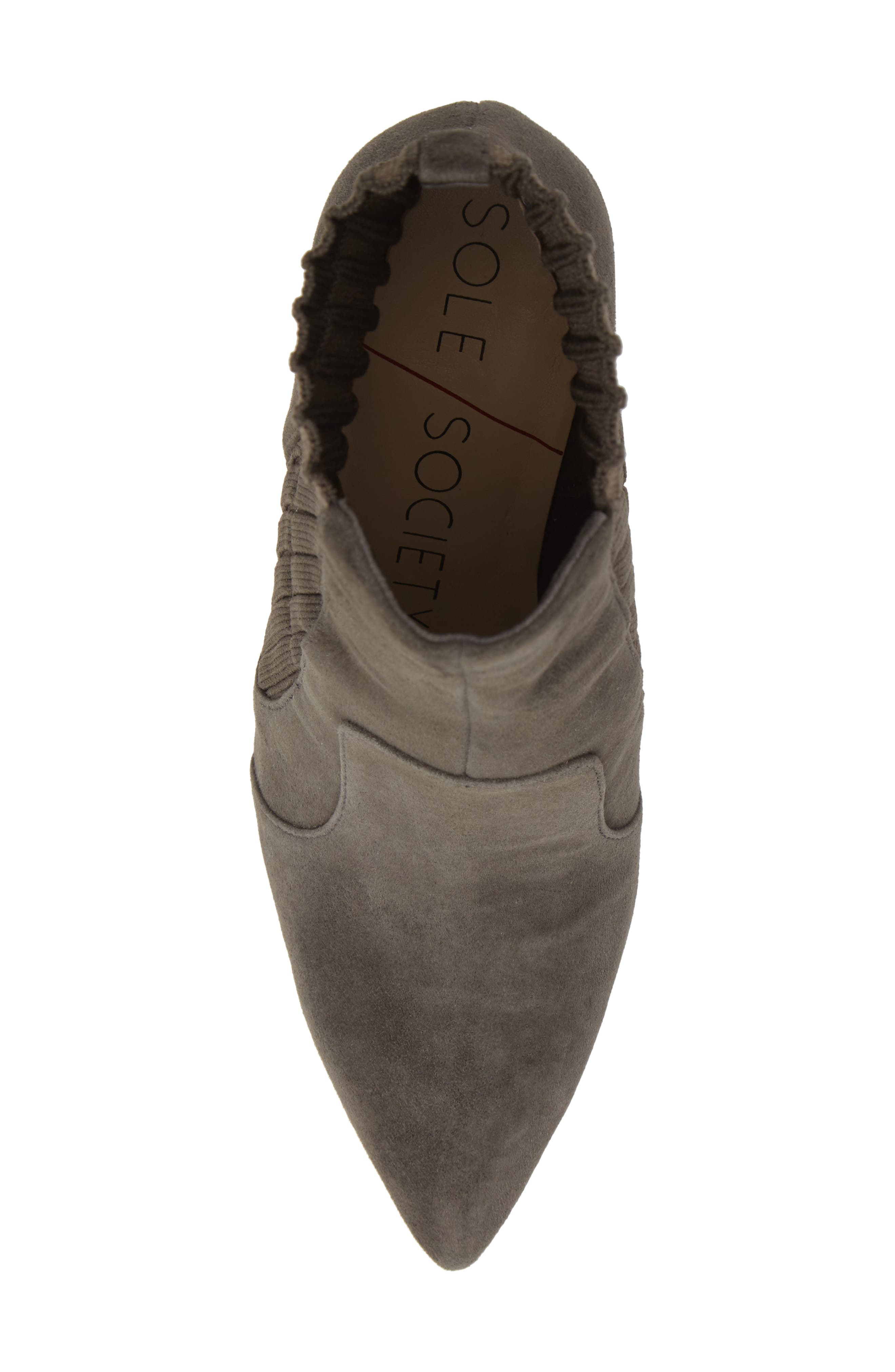 Salmay Sock Bootie,                             Alternate thumbnail 5, color,                             IRON SUEDE