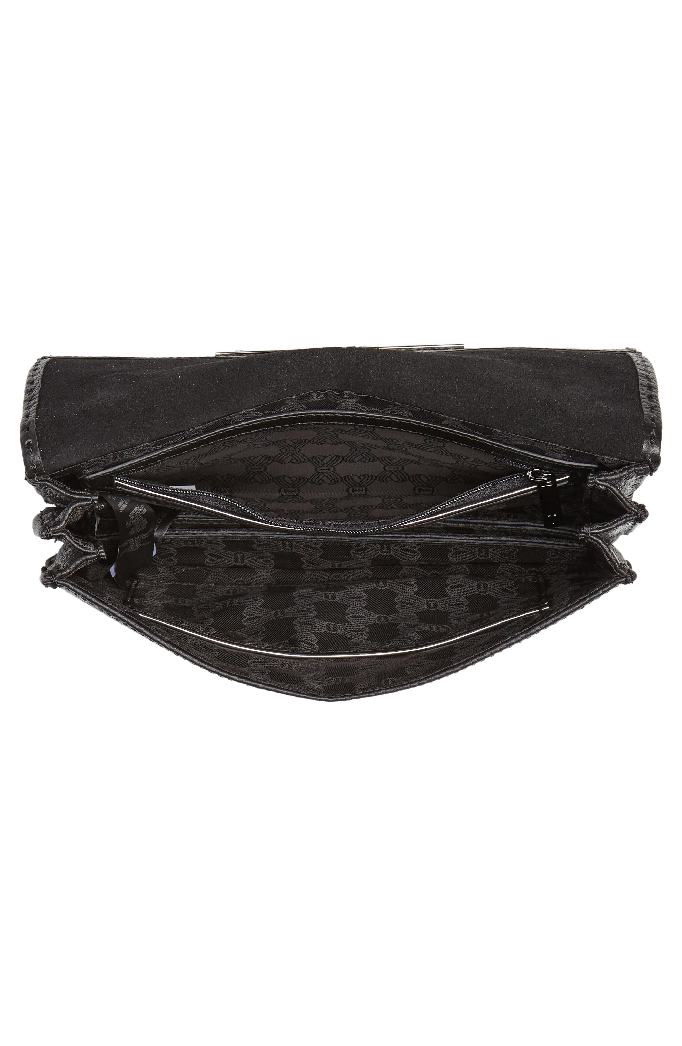 TED BAKER LONDON,                             Jocie Leather Crossbody Bag,                             Alternate thumbnail 4, color,                             001