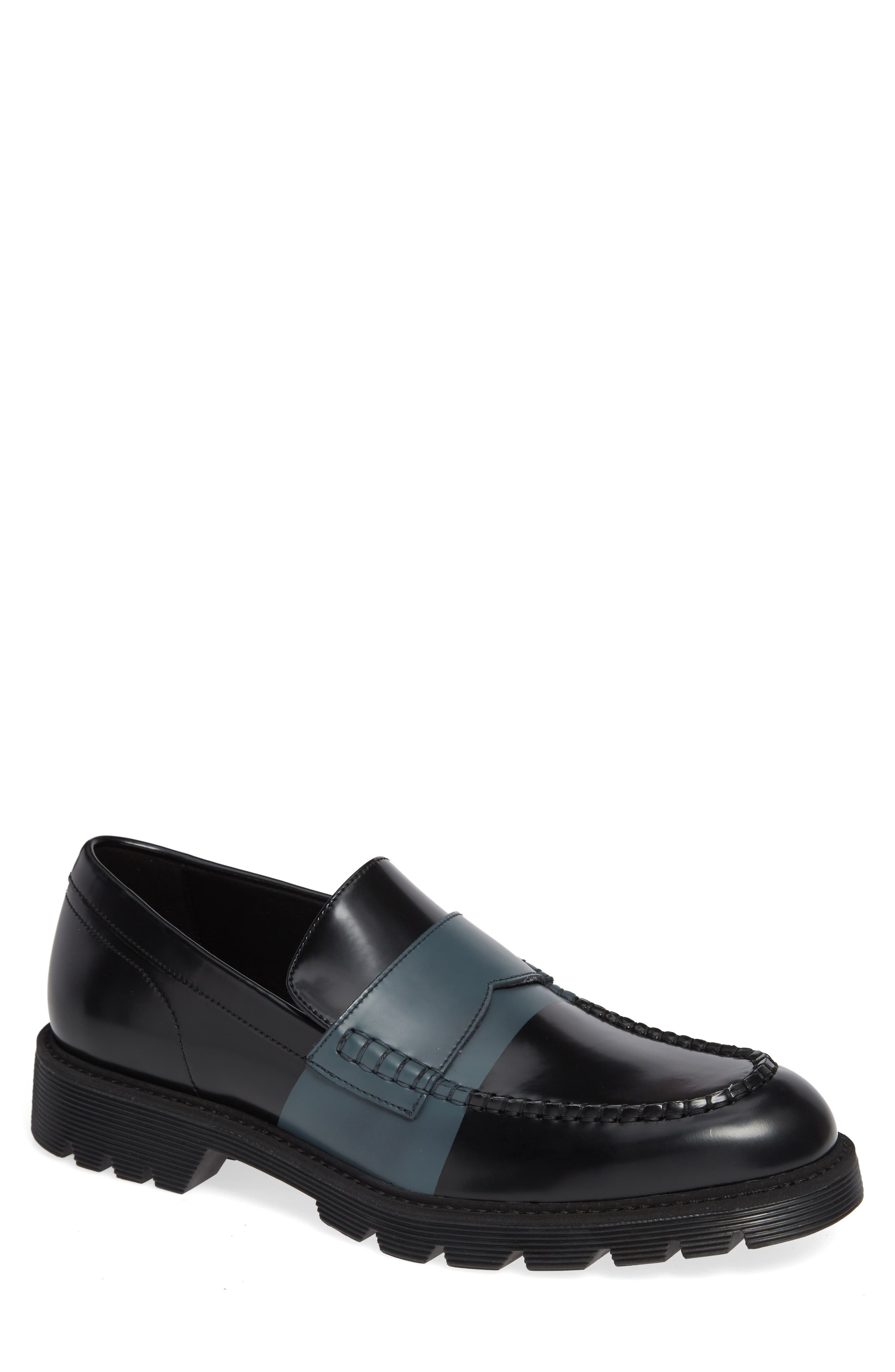 Florentino Penny Loafer,                             Main thumbnail 1, color,                             BLACK LEATHER