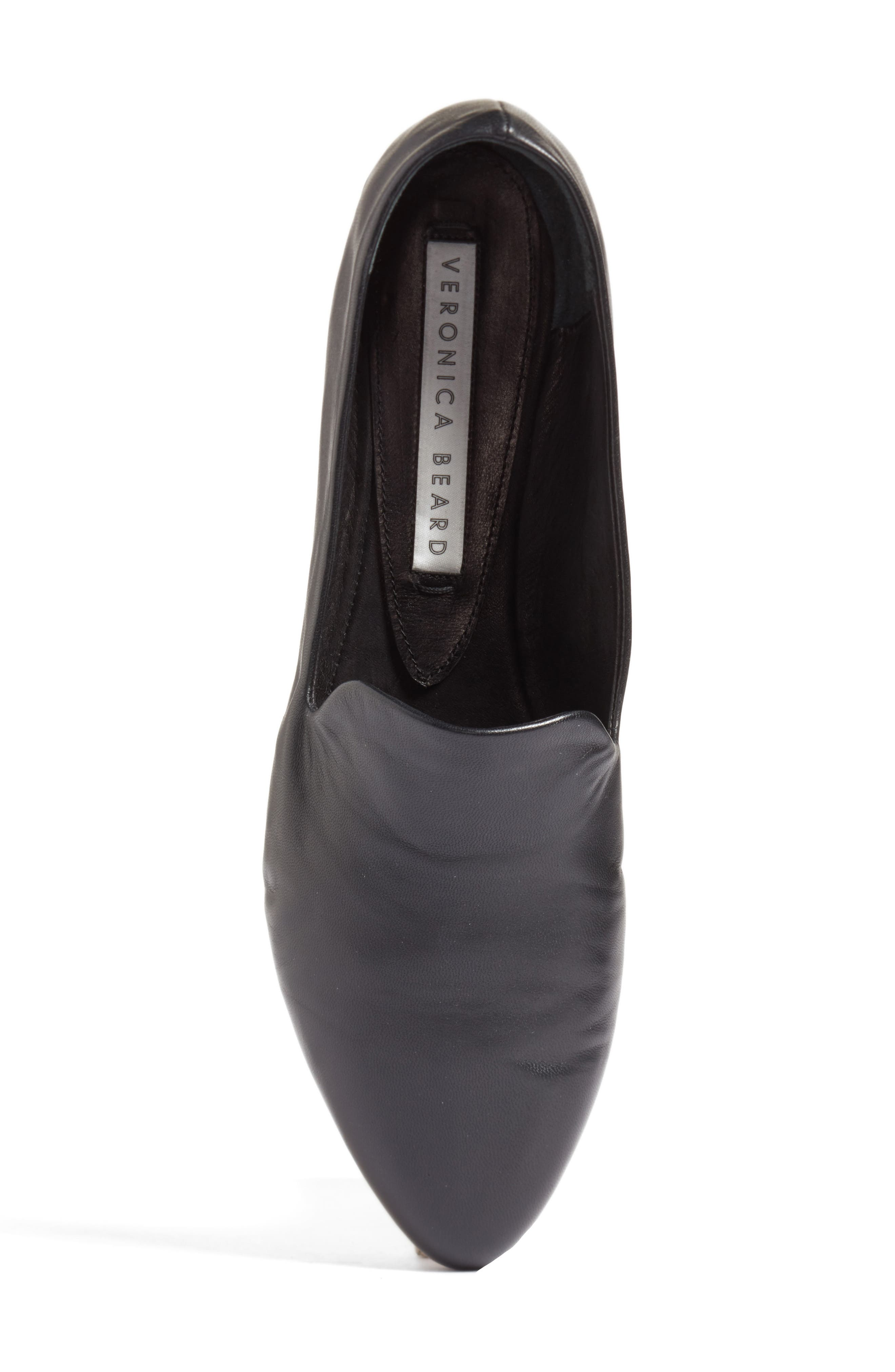 Griffin Pointy Toe Loafer,                             Alternate thumbnail 5, color,                             BLACK