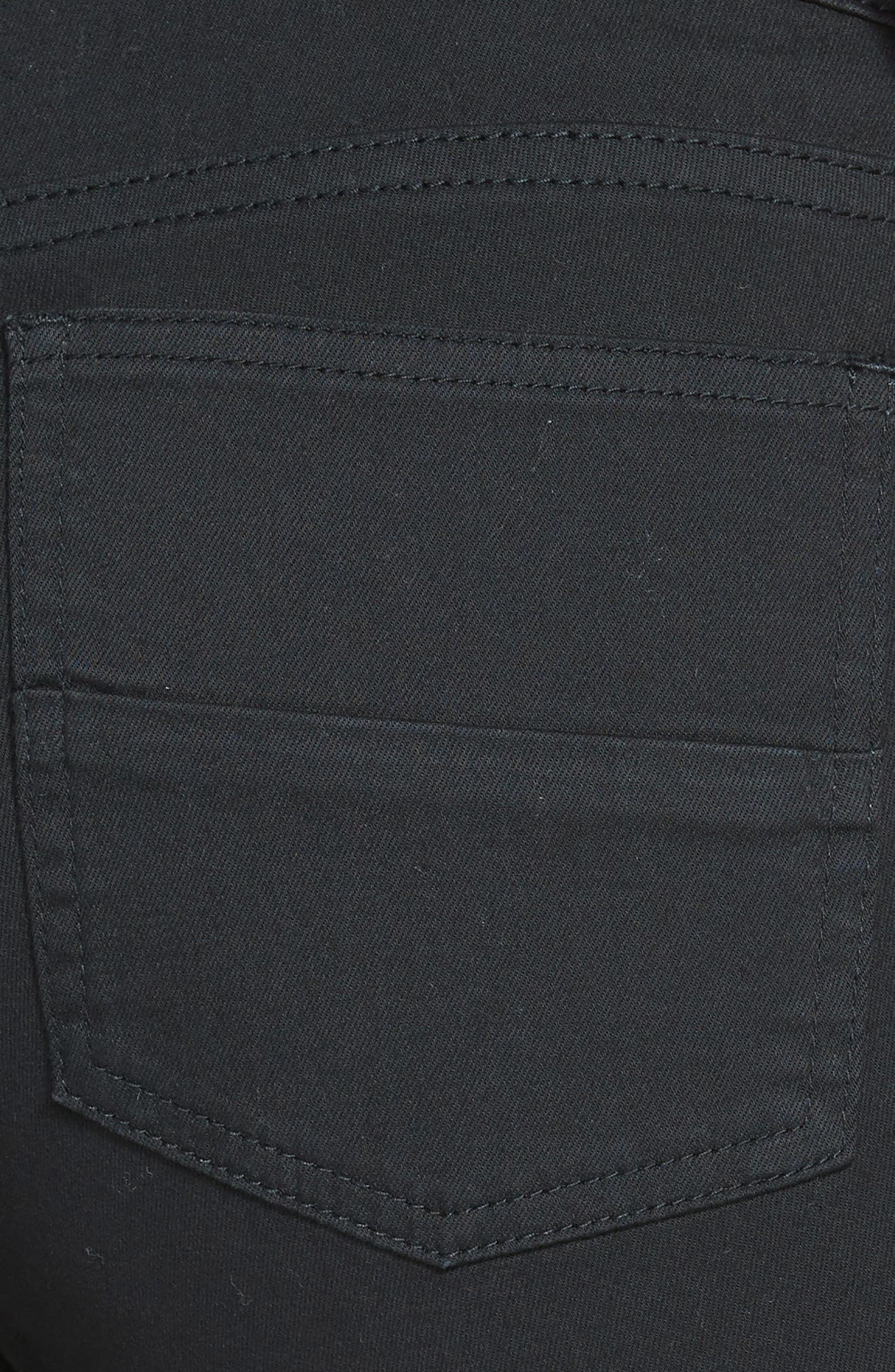 'Natalie' Twill Bermuda Shorts,                             Alternate thumbnail 6, color,                             001