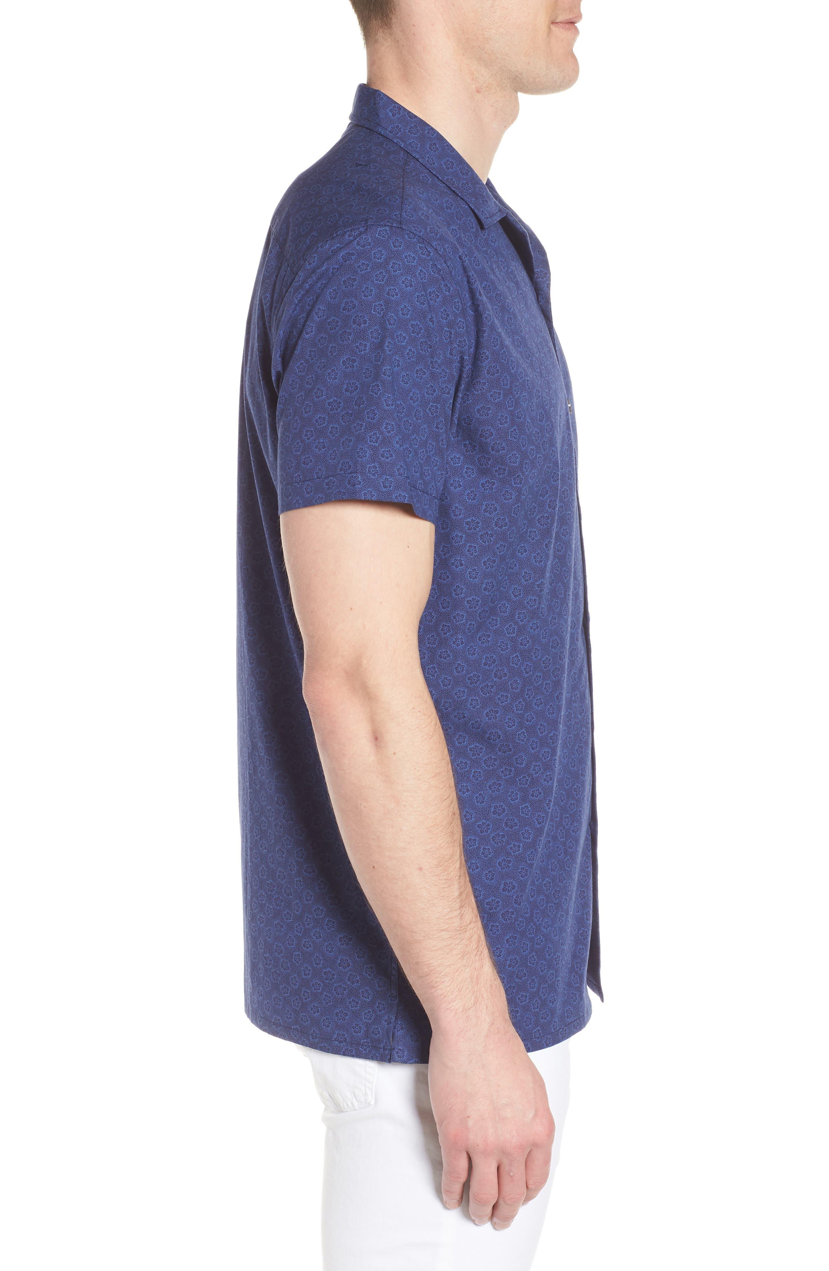 COASTAORO,                             Camp Corones Regular Fit Short Sleeve Sport Shirt,                             Alternate thumbnail 3, color,                             410