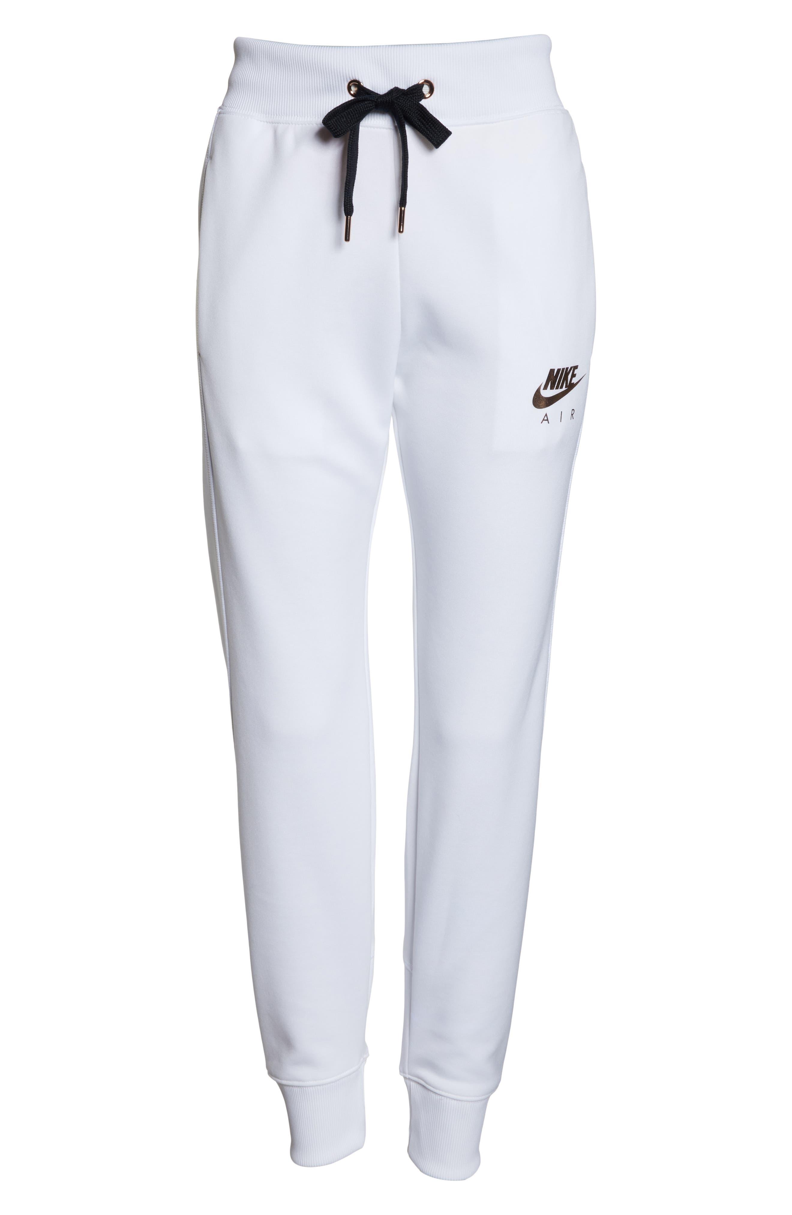 Sportswear Air Jogger Pants,                             Alternate thumbnail 7, color,                             WHITE/ ROSE GOLD/ BLACK