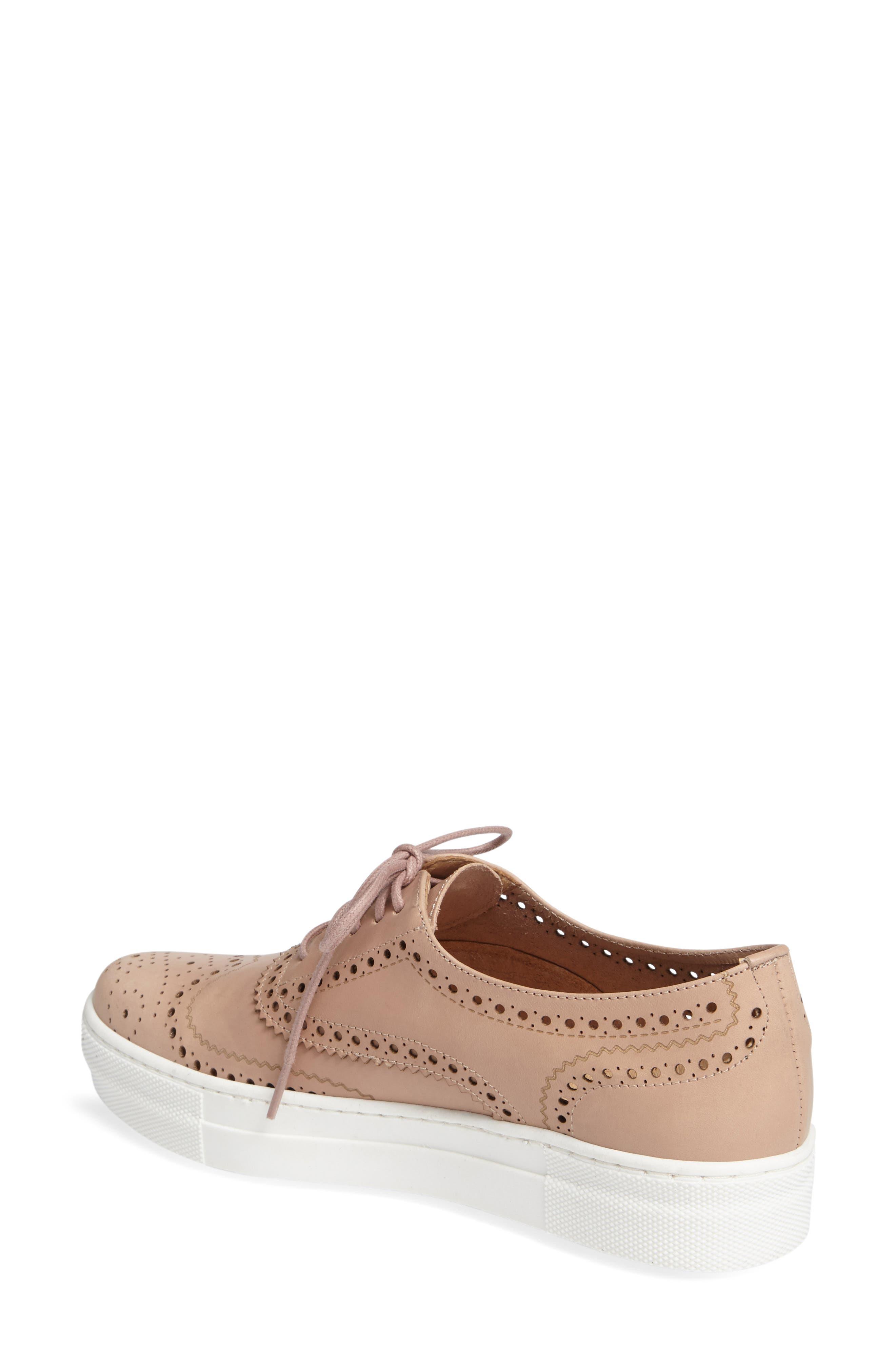 Kimmie Perforated Platform Sneaker,                             Alternate thumbnail 8, color,