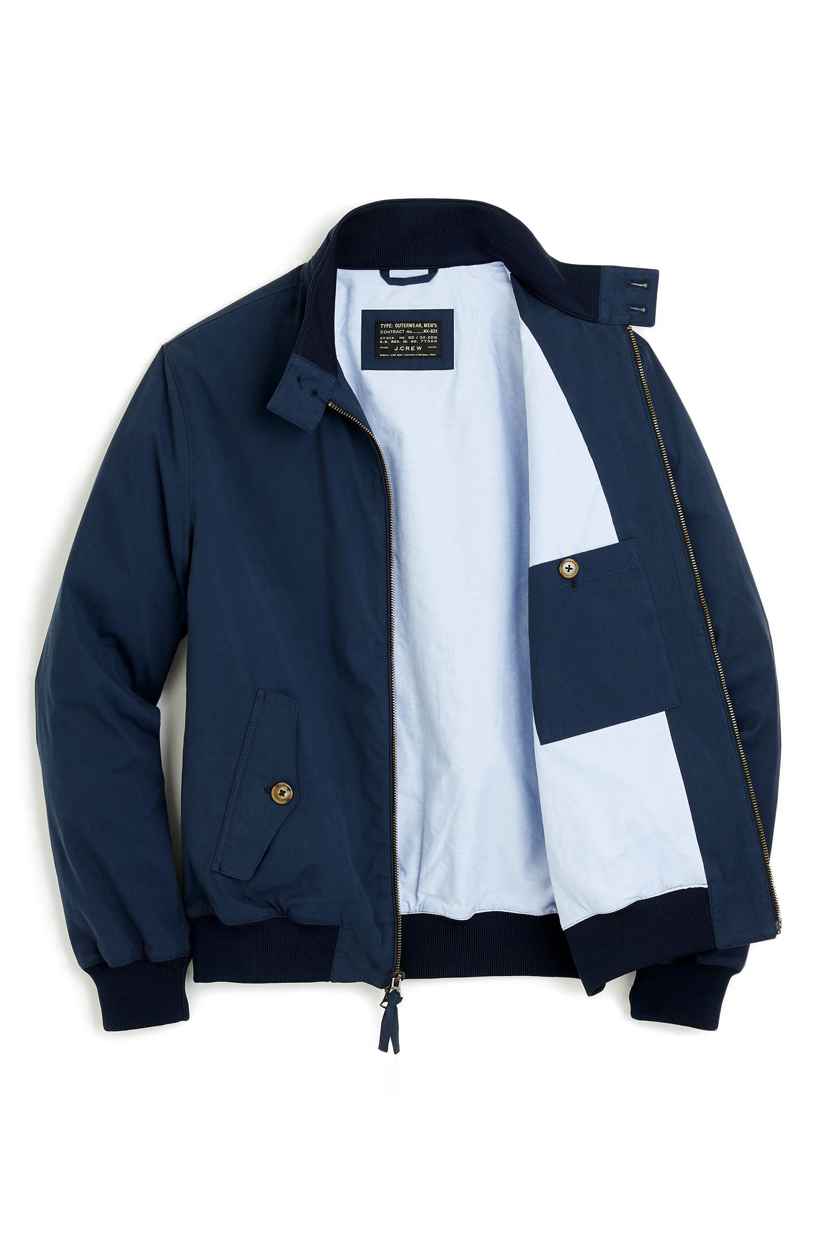 Slim Fit Harrington Jacket,                             Alternate thumbnail 4, color,                             400