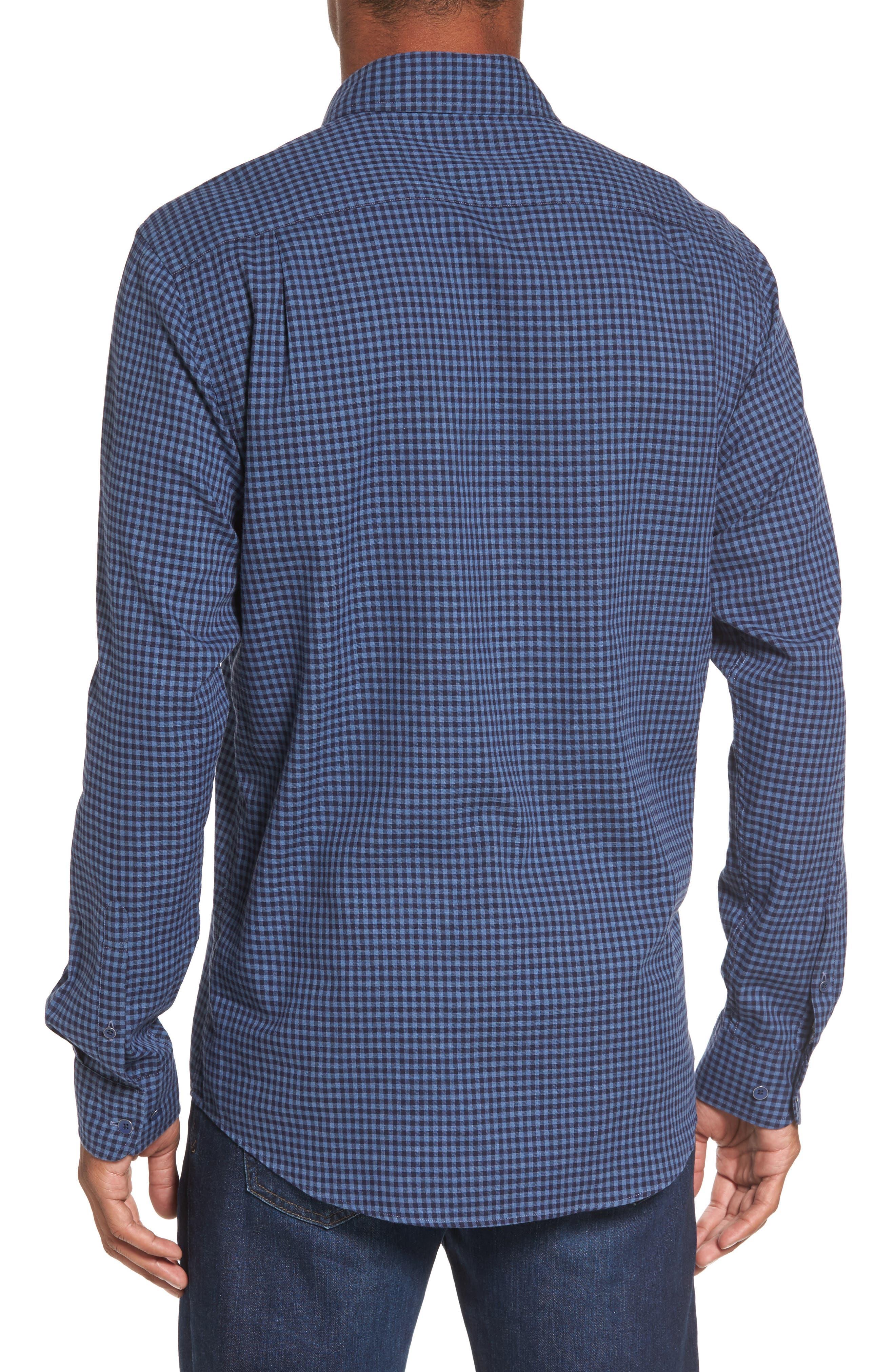 Kennington Regular Fit Gingham Sport Shirt,                             Alternate thumbnail 2, color,                             401