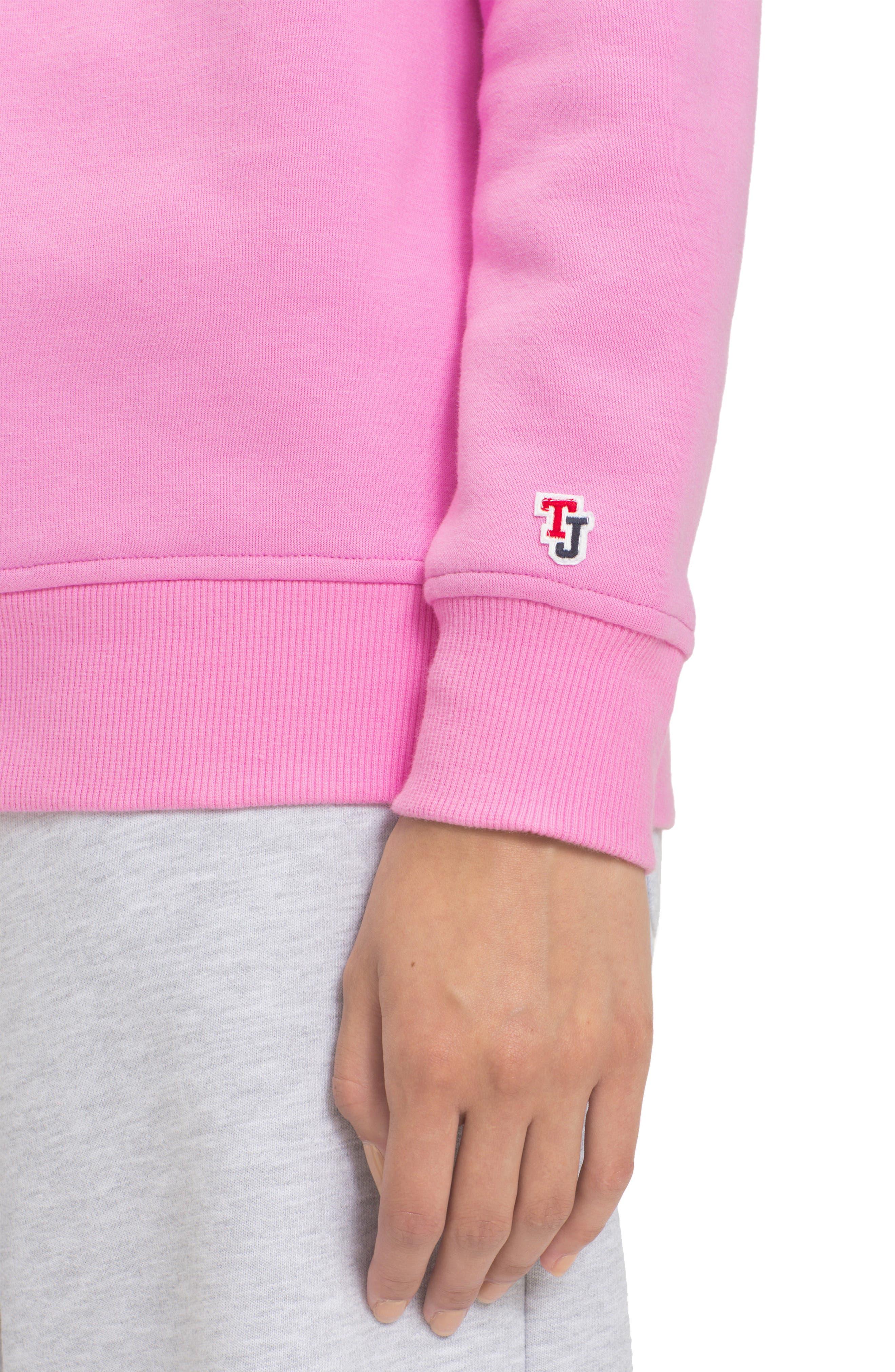 TOMMY JEANS,                             TJW Tommy Classics Sweatshirt,                             Alternate thumbnail 3, color,                             LILAC CHIFFON