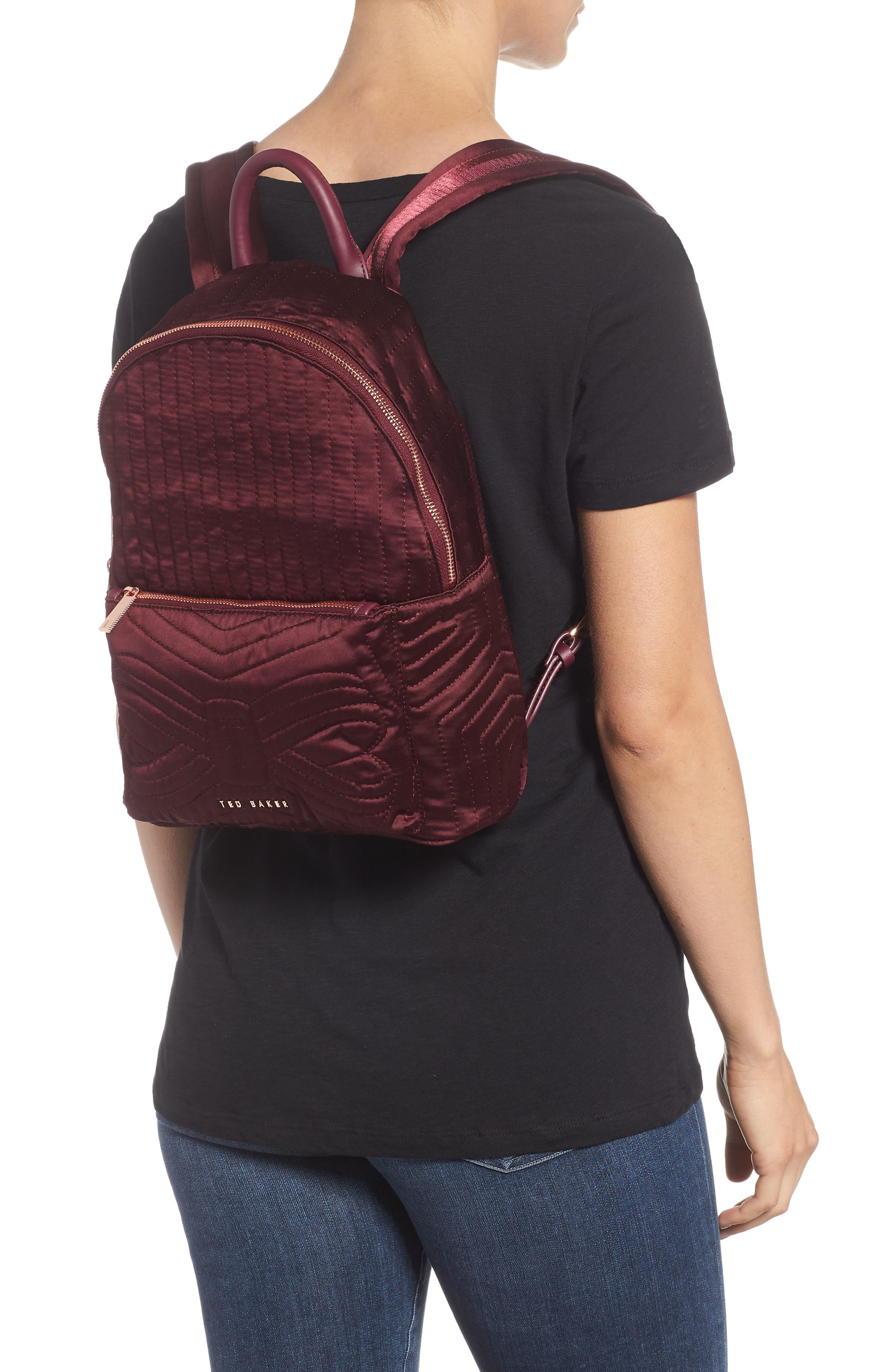 TED BAKER LONDON,                             Quilted Bow Backpack,                             Alternate thumbnail 2, color,                             210