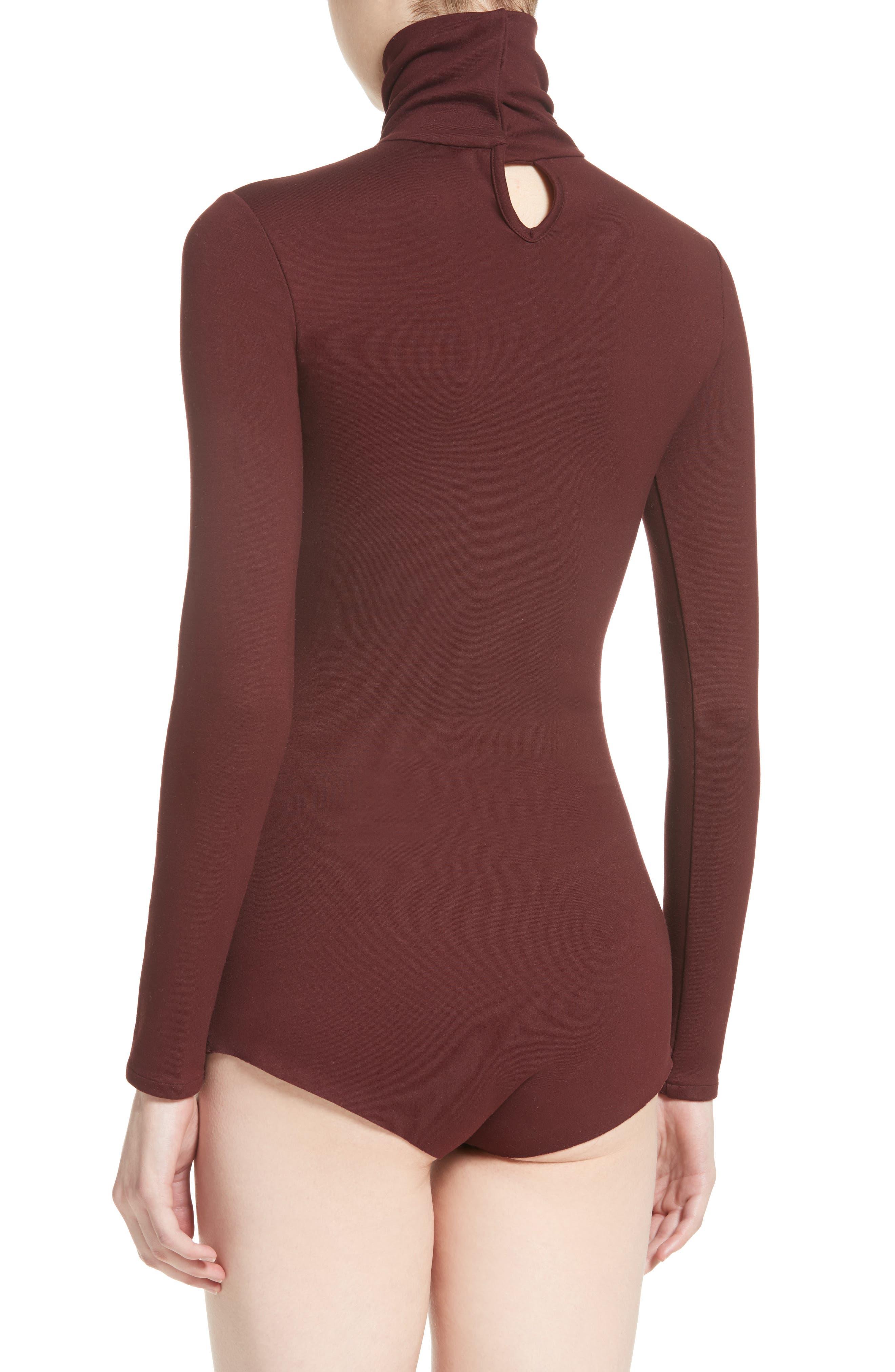 Jersey Turtleneck Bodysuit,                             Alternate thumbnail 3, color,                             930