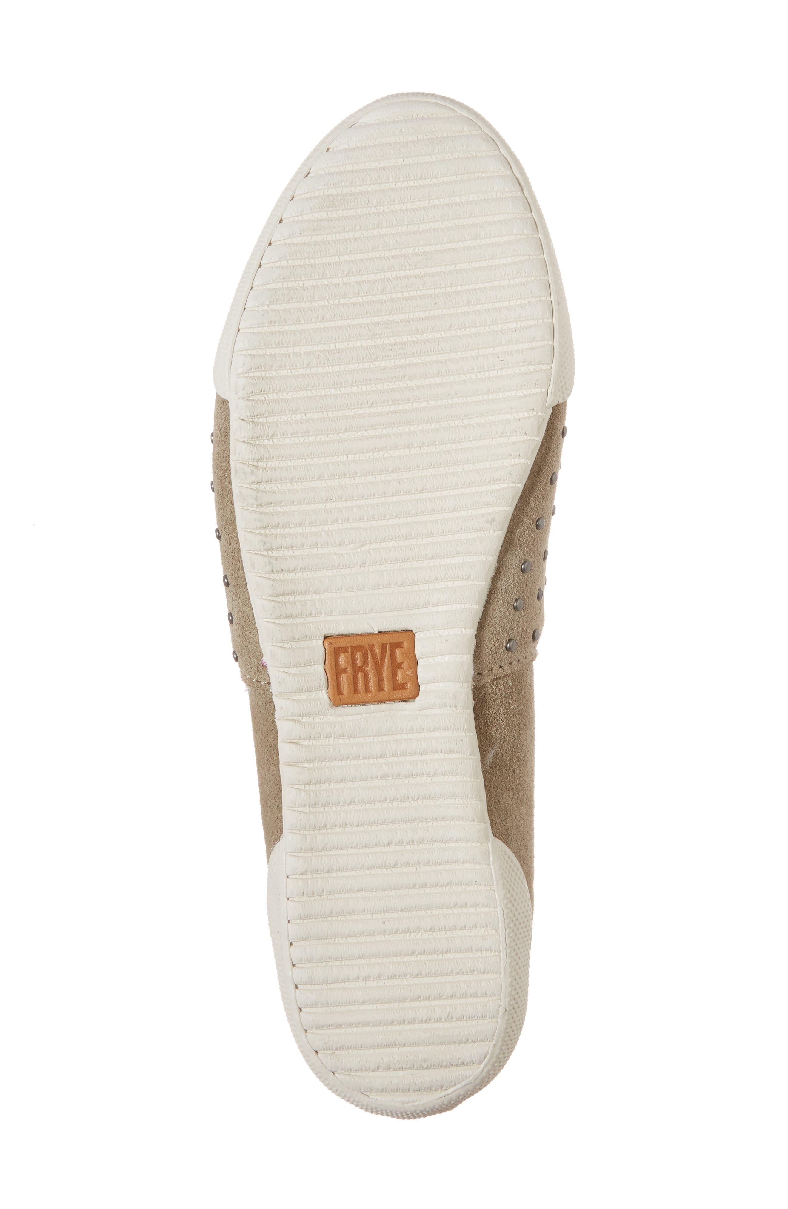 Melanie Stud Slip-On Sneaker,                             Alternate thumbnail 6, color,                             ASH