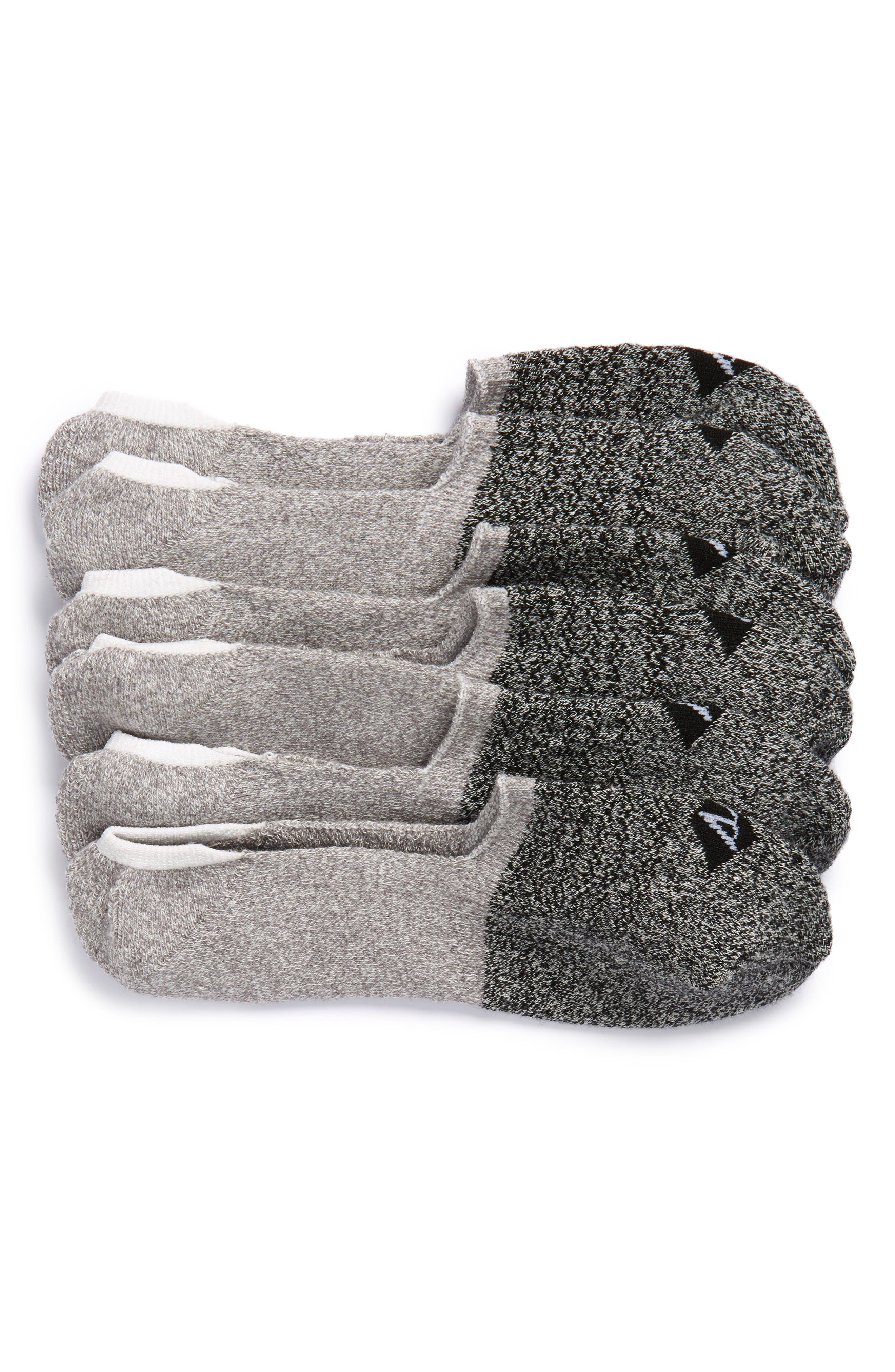 Sport Stripe 3-Pack Performance Liner Socks,                             Main thumbnail 1, color,                             033
