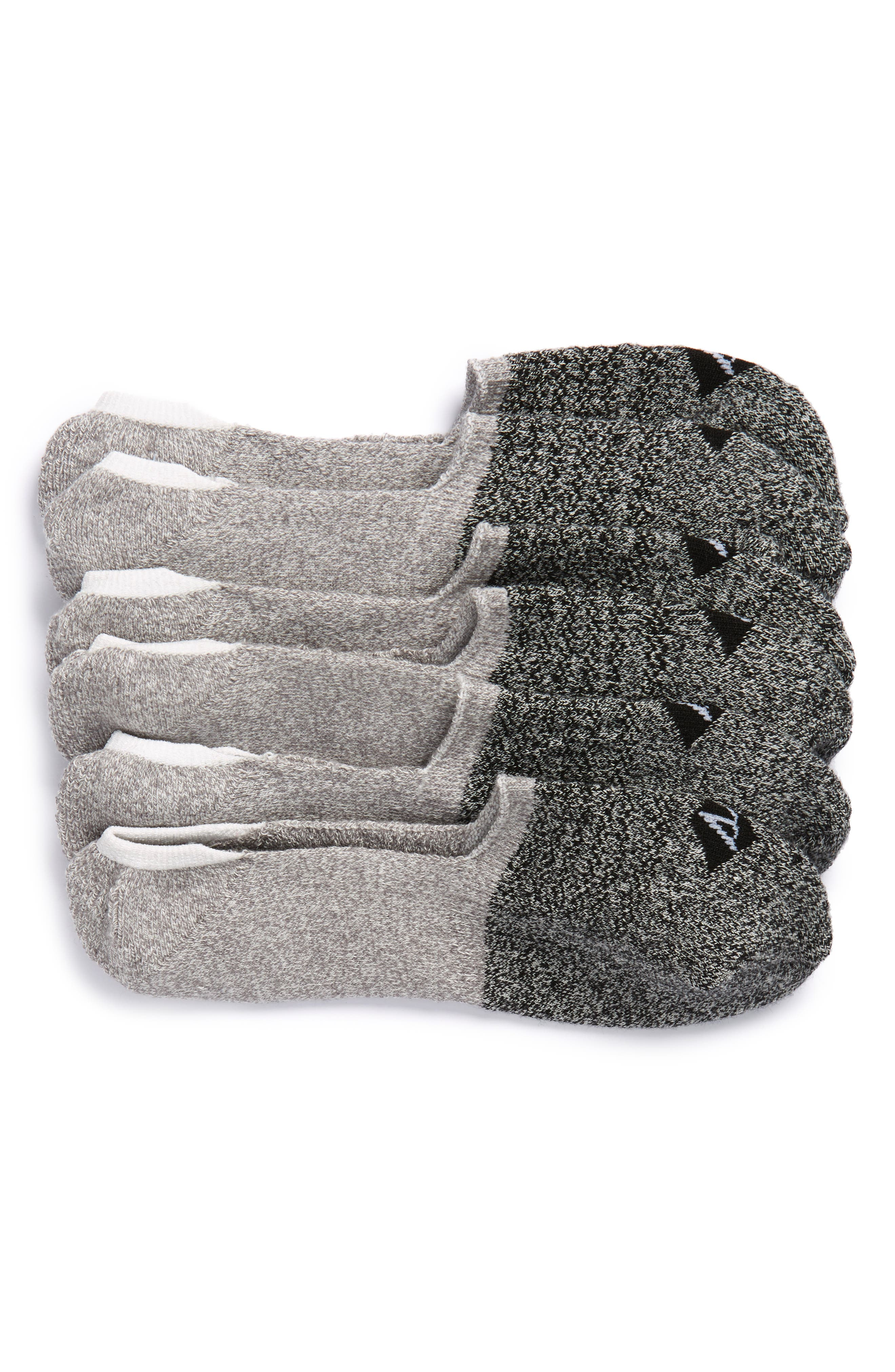 Sport Stripe 3-Pack Performance Liner Socks,                         Main,                         color, 033