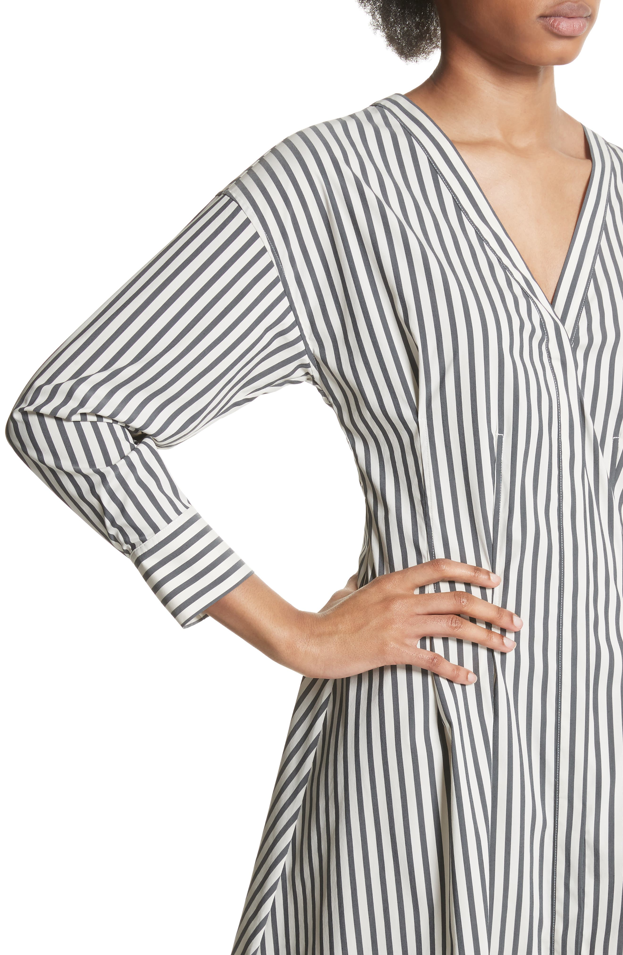 Stripe Shirtdress,                             Alternate thumbnail 4, color,