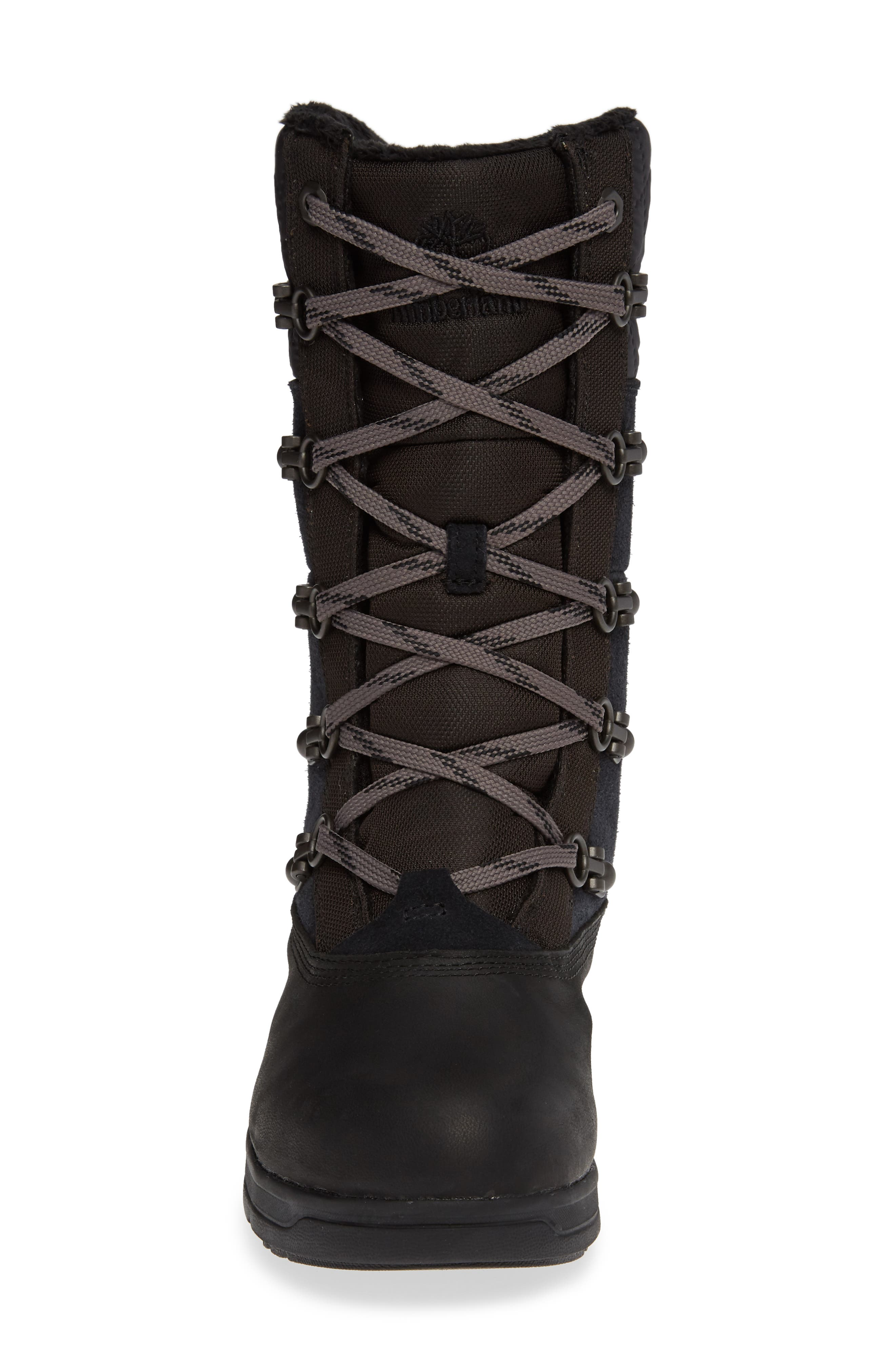 Haven Point Waterproof Boot,                             Alternate thumbnail 4, color,                             001