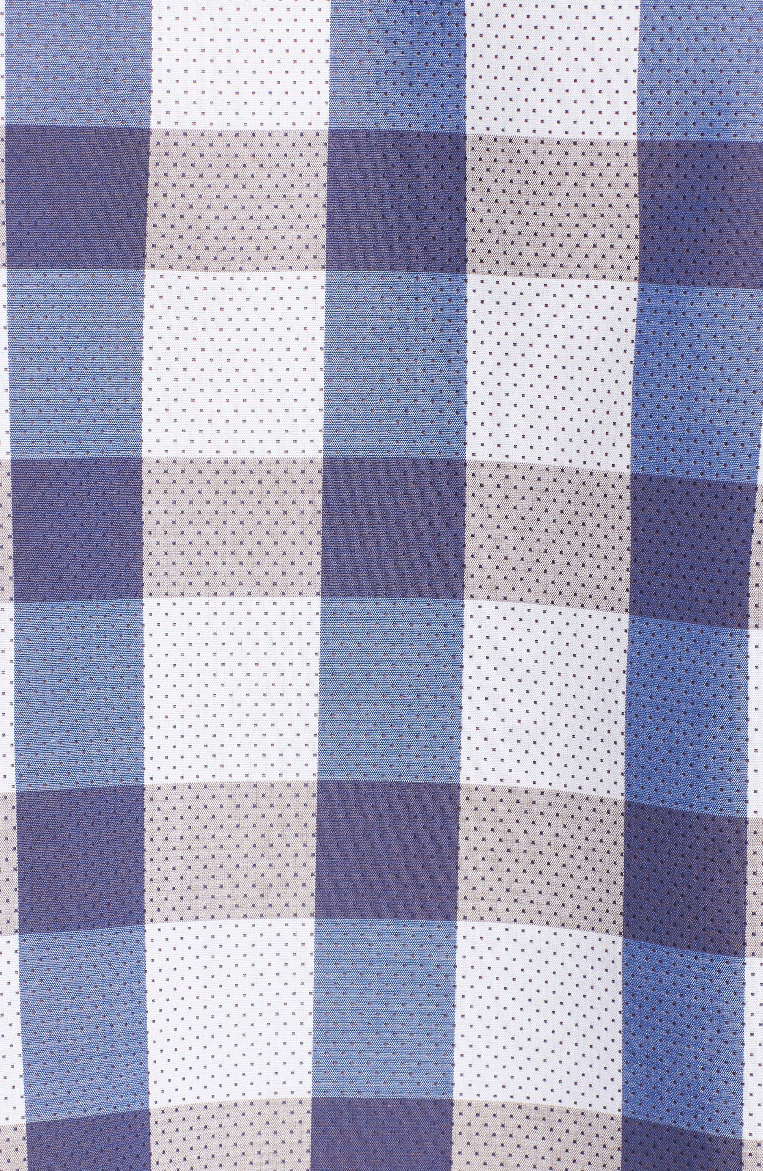 BUGATCHI,                             Classic Fit Check on Dot Sport Shirt,                             Alternate thumbnail 5, color,                             104