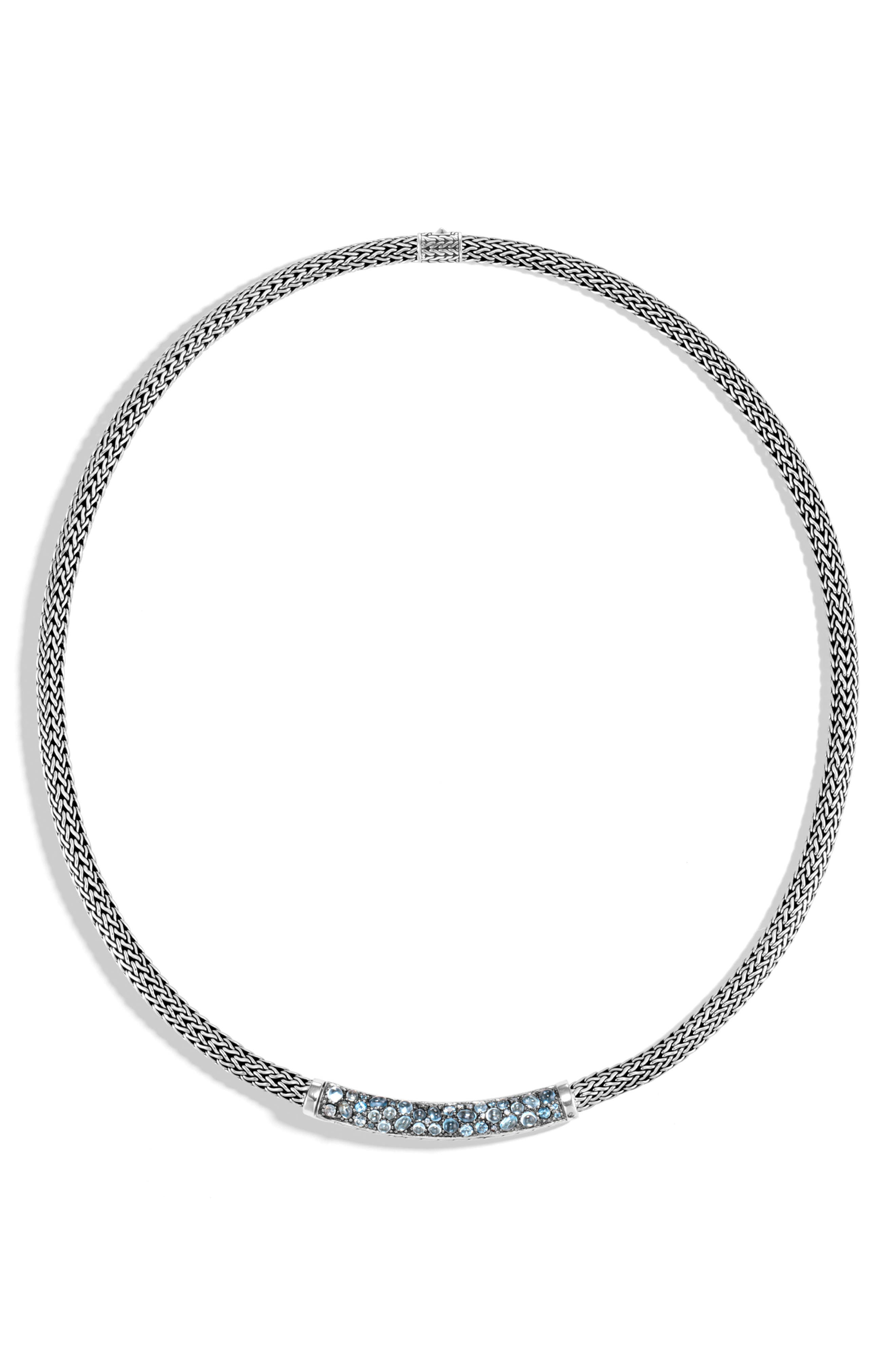 Classic Chain Lava Extra-Small Chain Necklace, Main, color, BLUE