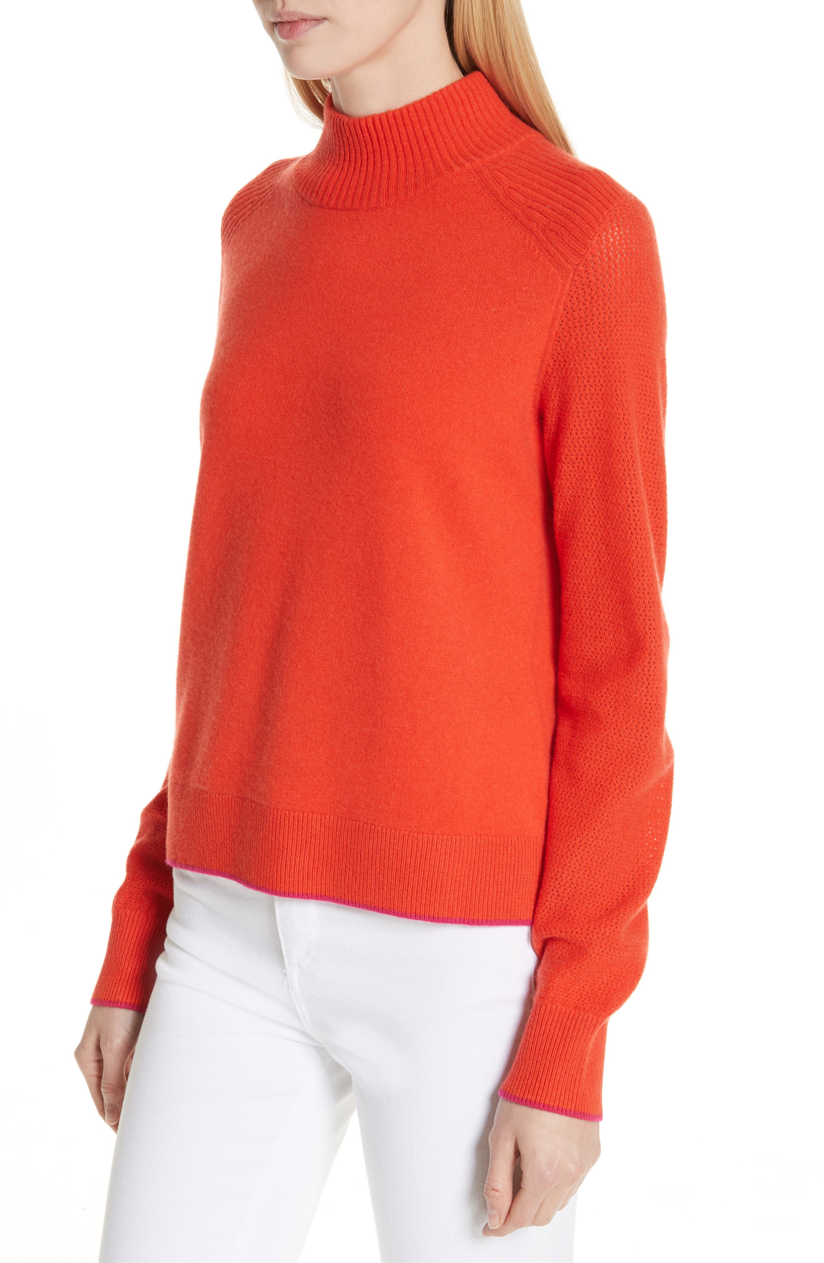 Yorke Cashmere Sweater,                             Alternate thumbnail 4, color,                             RED