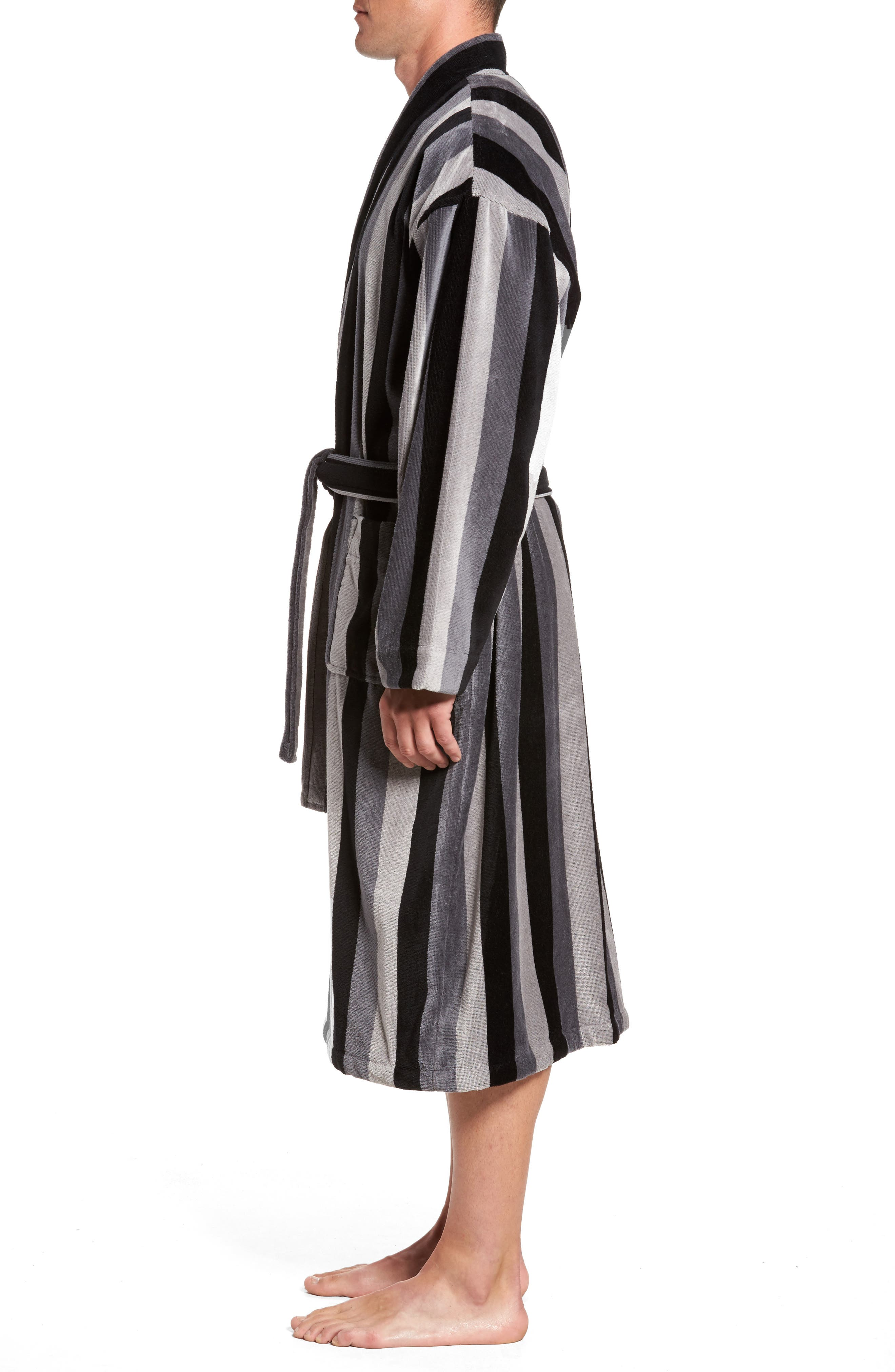 Remarkavelour Robe,                             Alternate thumbnail 3, color,                             001