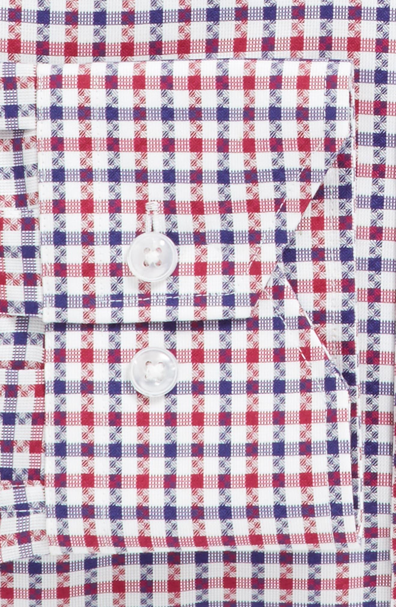 Trim Fit Check Dress Shirt,                             Alternate thumbnail 3, color,                             610