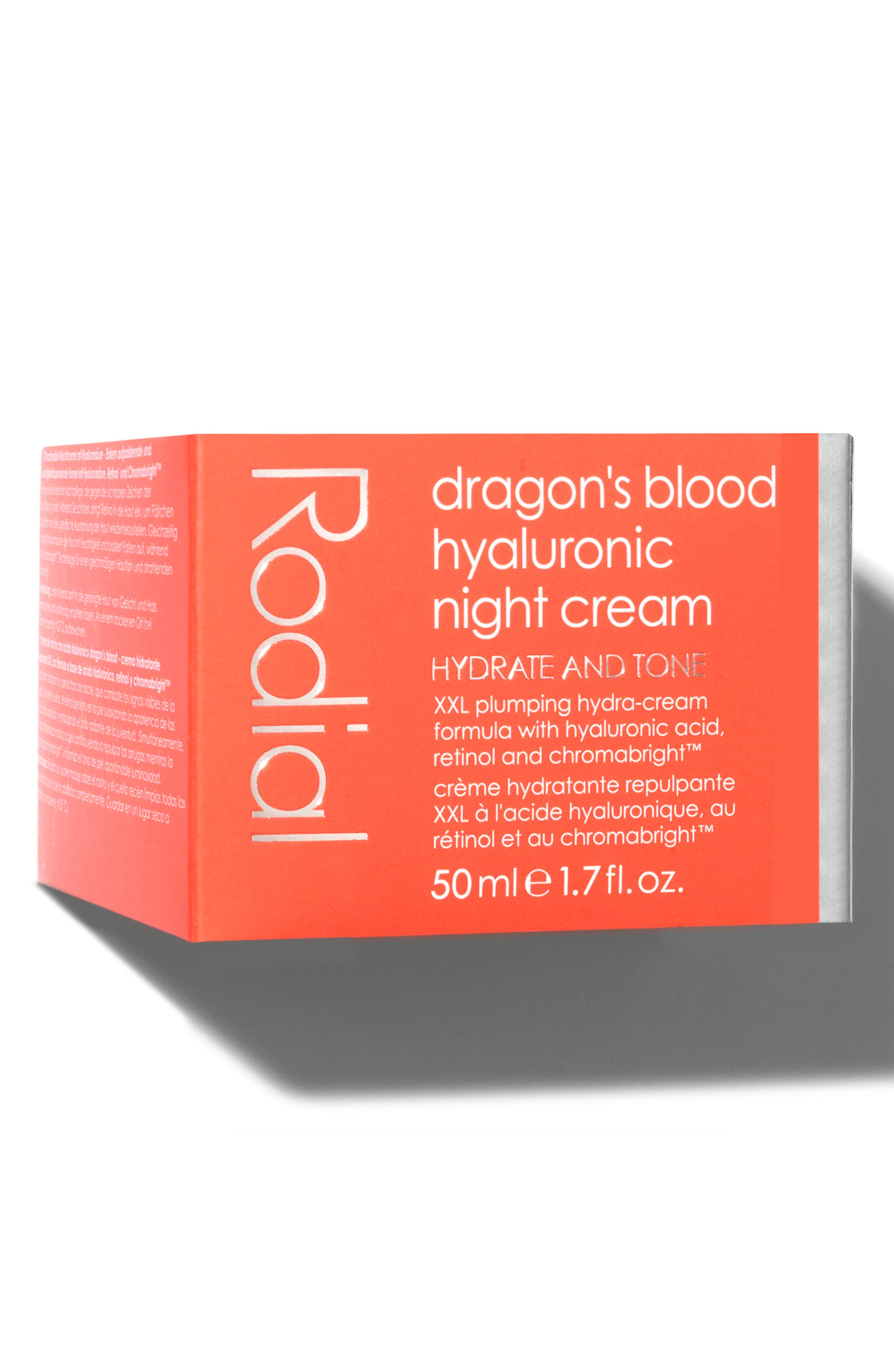 SPACE.NK.apothecary Rodial Dragon's Blood Hyaluronic Night Cream,                             Alternate thumbnail 5, color,                             NO COLOR