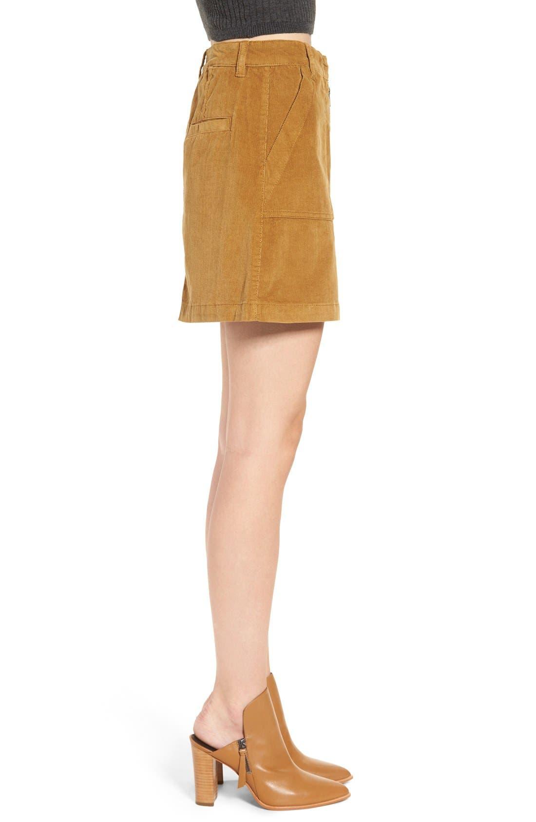 A-Line Corduroy Skirt,                             Alternate thumbnail 6, color,