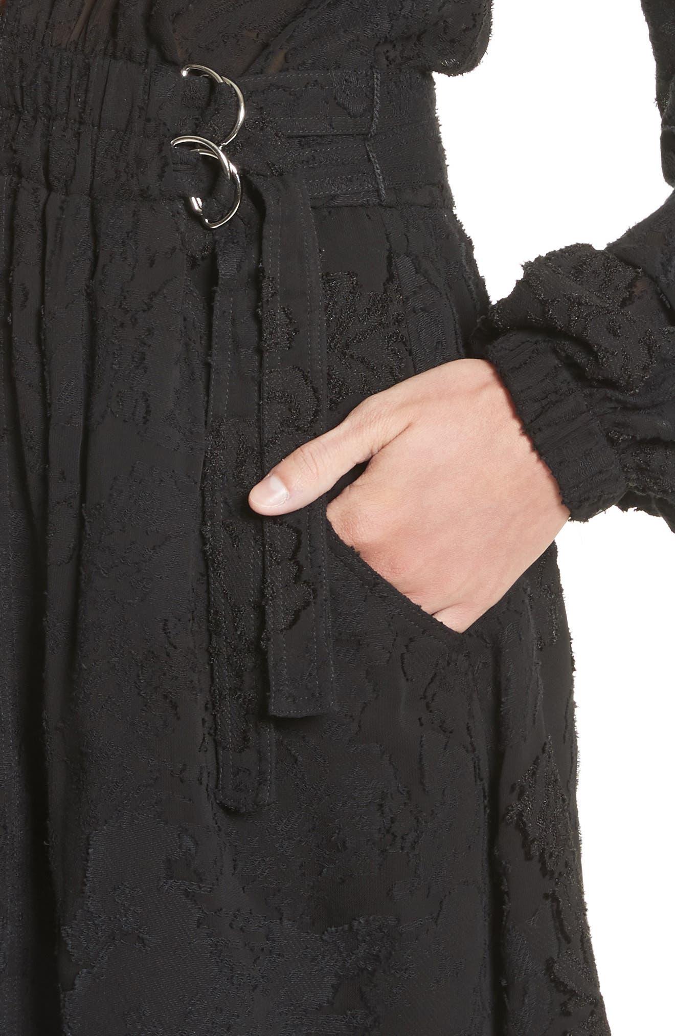Jezebel Fil Coupé Dress,                             Alternate thumbnail 4, color,                             001