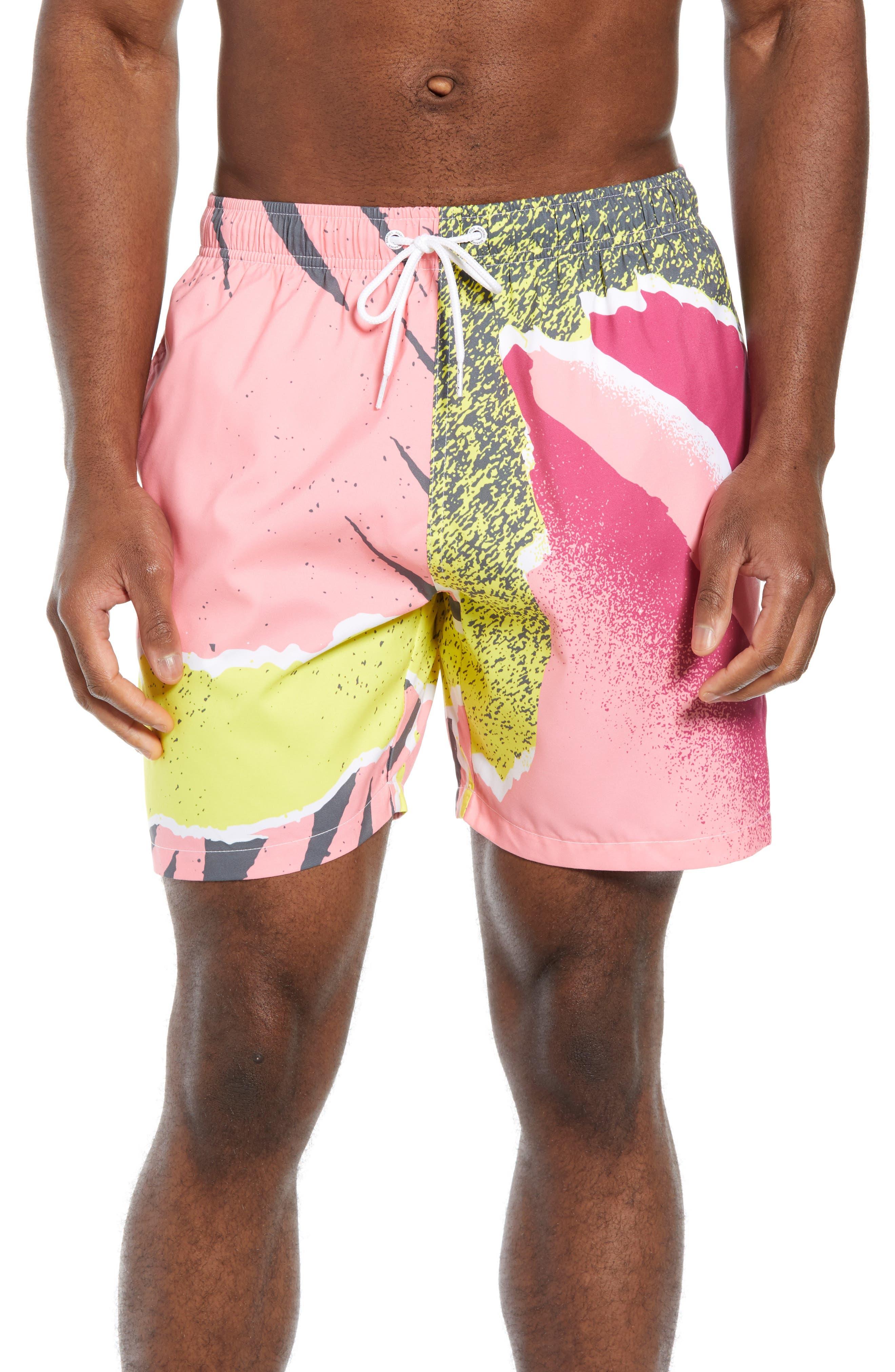 Andre Retro Board Shorts,                         Main,                         color, PINK