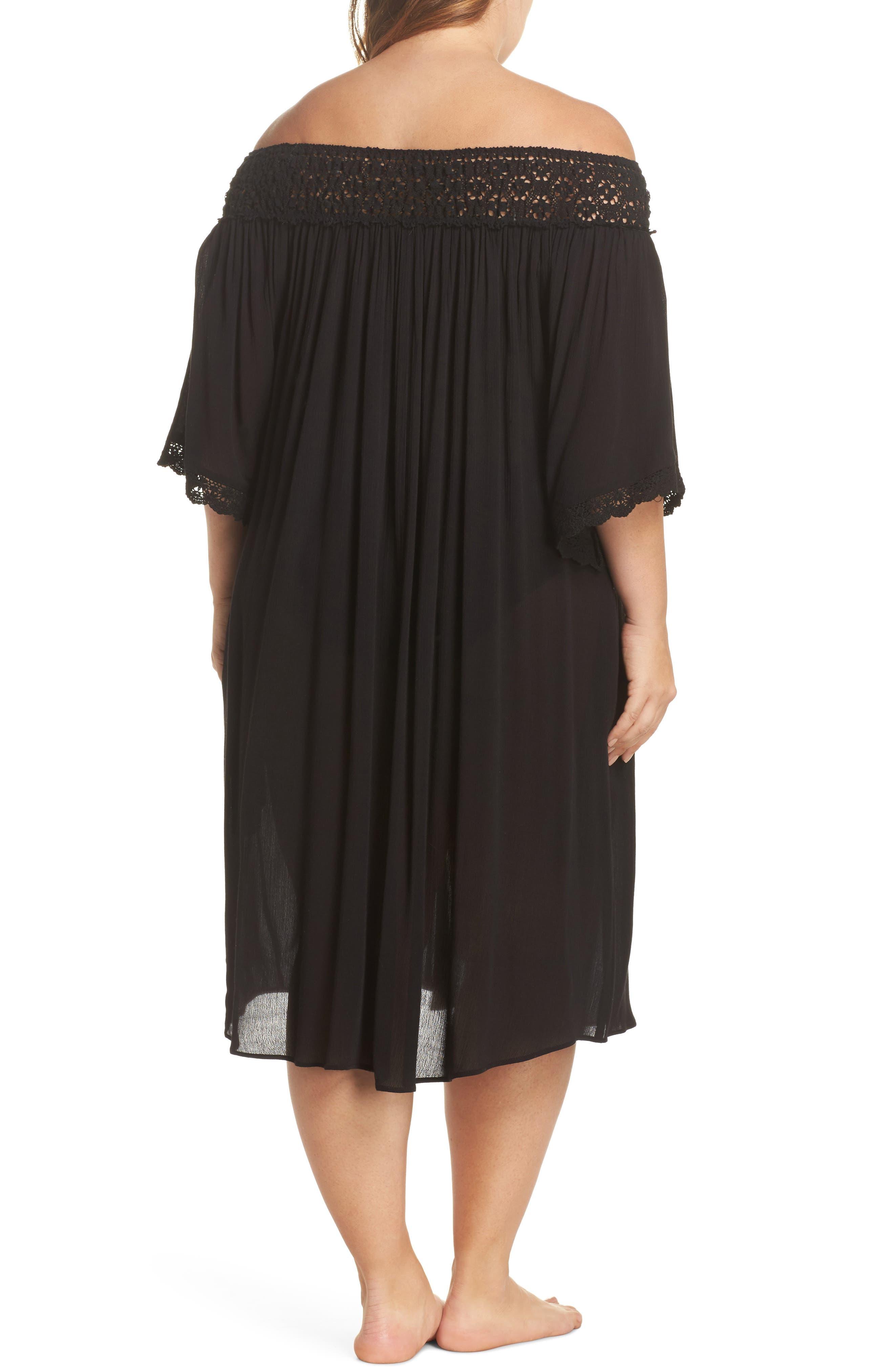 Rimini Crochet Cover-Up Dress,                             Alternate thumbnail 2, color,                             001