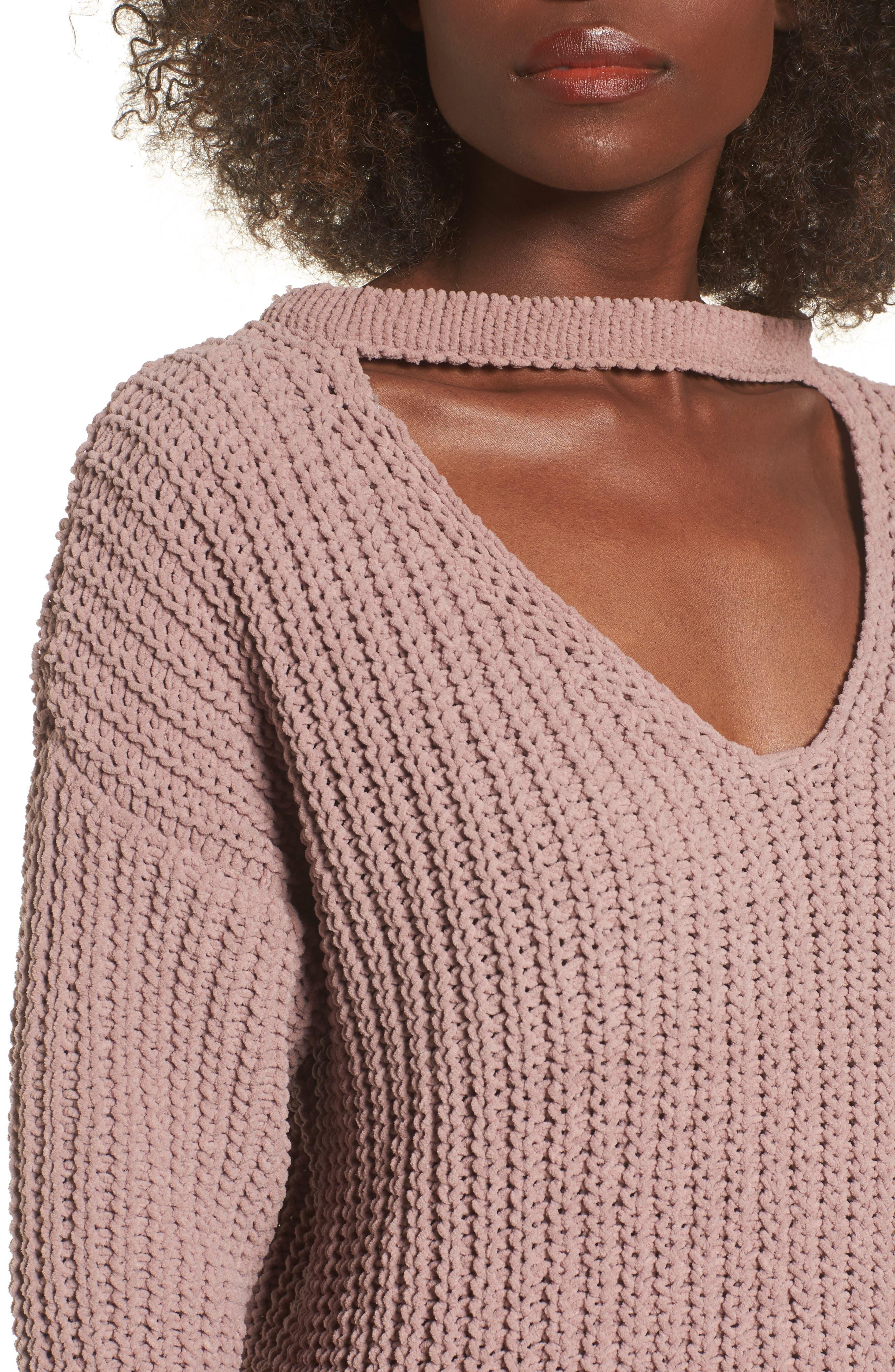 Mary Lous Choker Sweater,                             Alternate thumbnail 8, color,