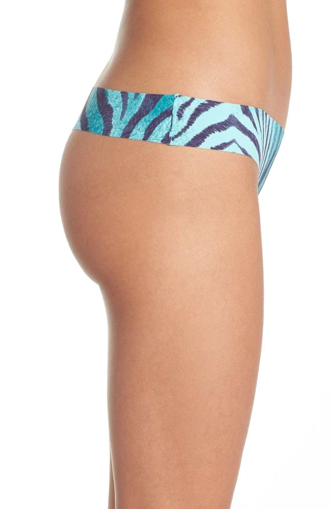 Print Microfiber Thong,                             Alternate thumbnail 230, color,