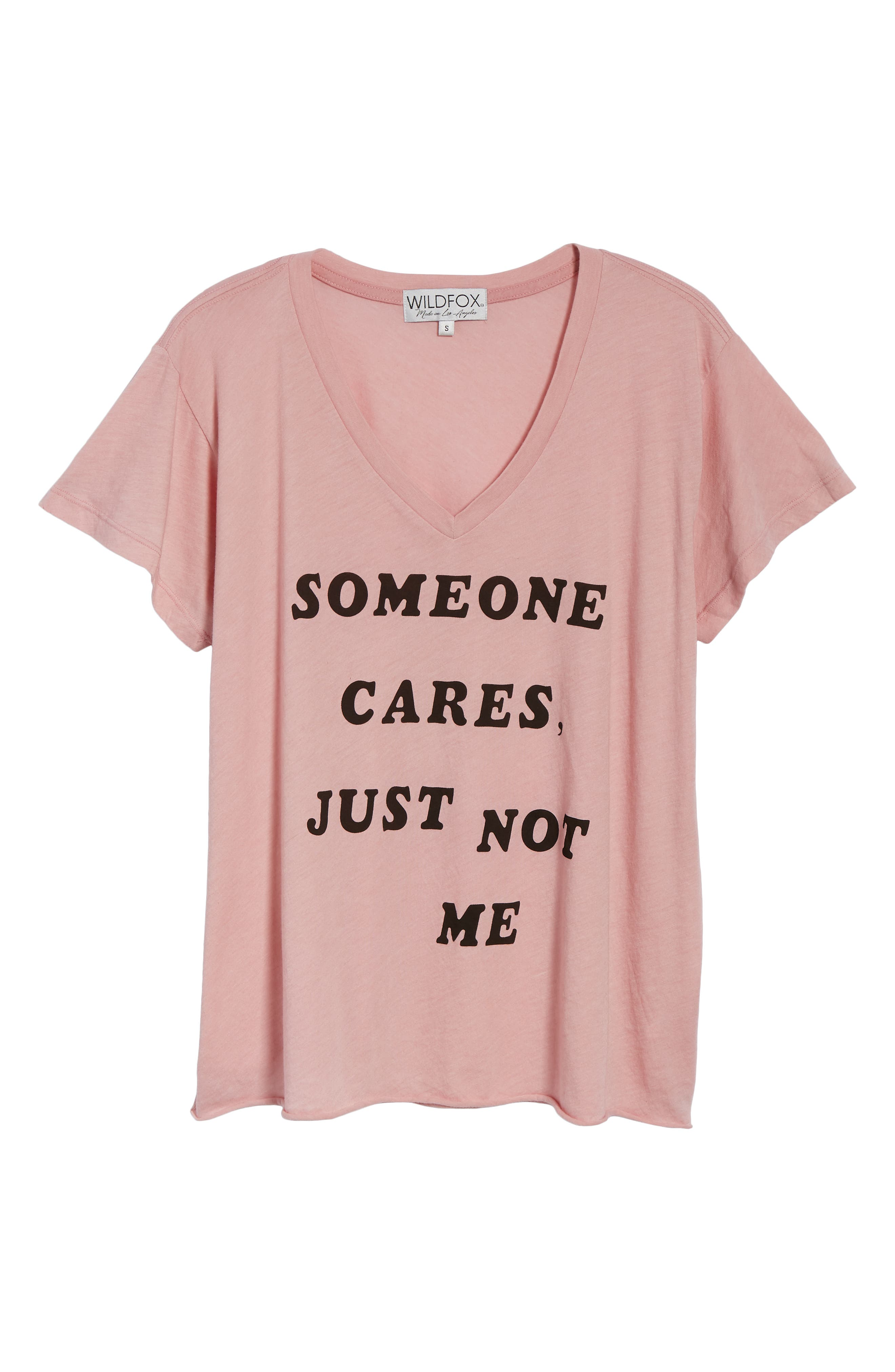 Romeo - Just Not Me V-Neck Tee,                             Alternate thumbnail 6, color,                             TAUPE ROSE
