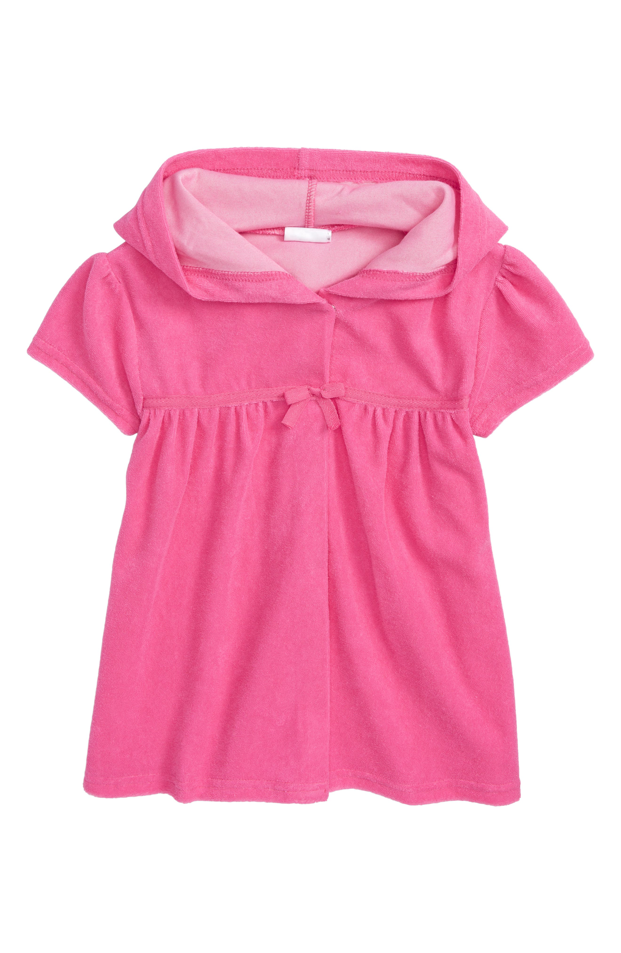 Hooded Cover-Up,                         Main,                         color, FUCHSIA