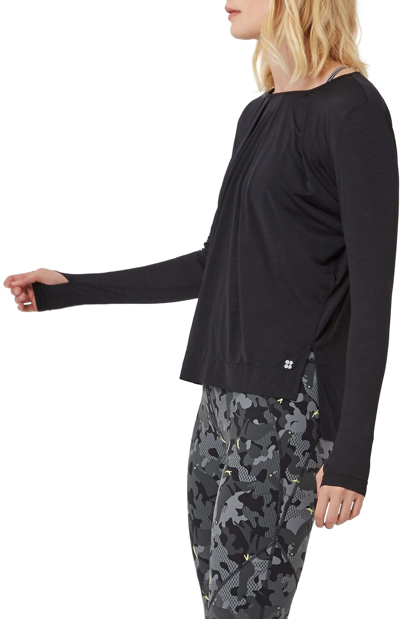 Hinoki Long Sleeve Tee,                             Alternate thumbnail 3, color,                             BLACK