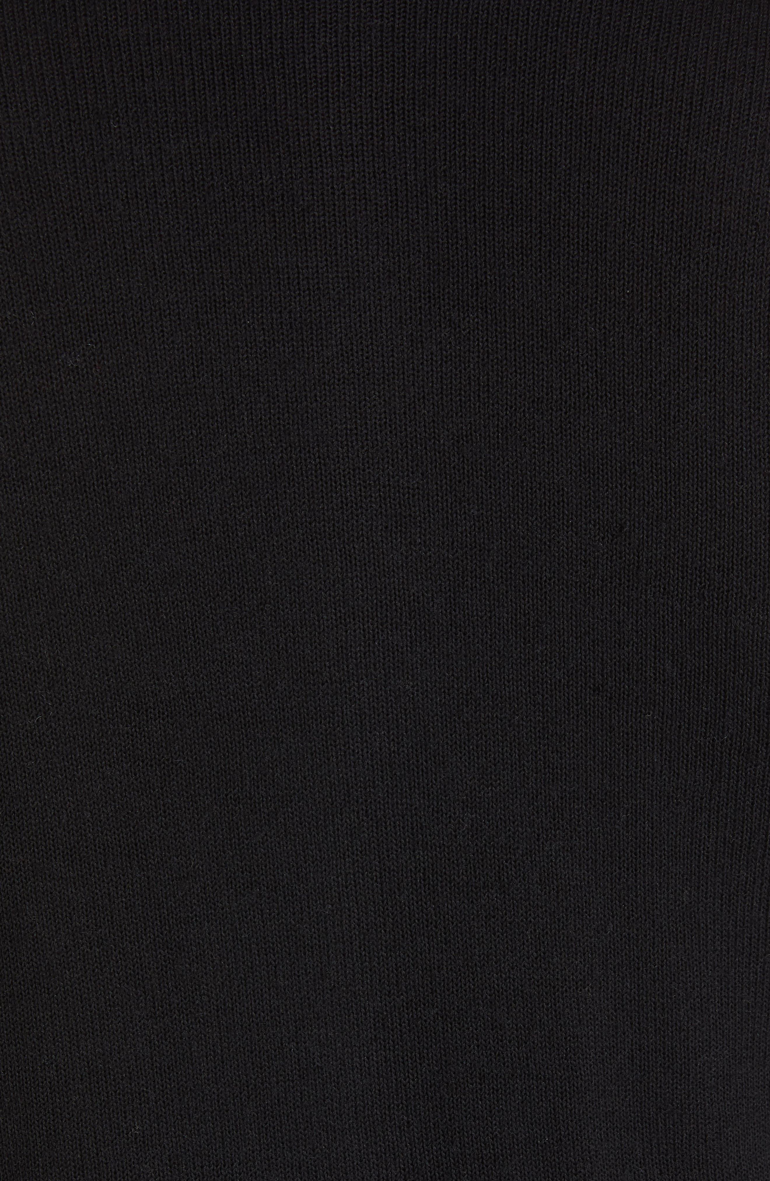 Crewneck 200 Top,                             Alternate thumbnail 6, color,                             BLACK