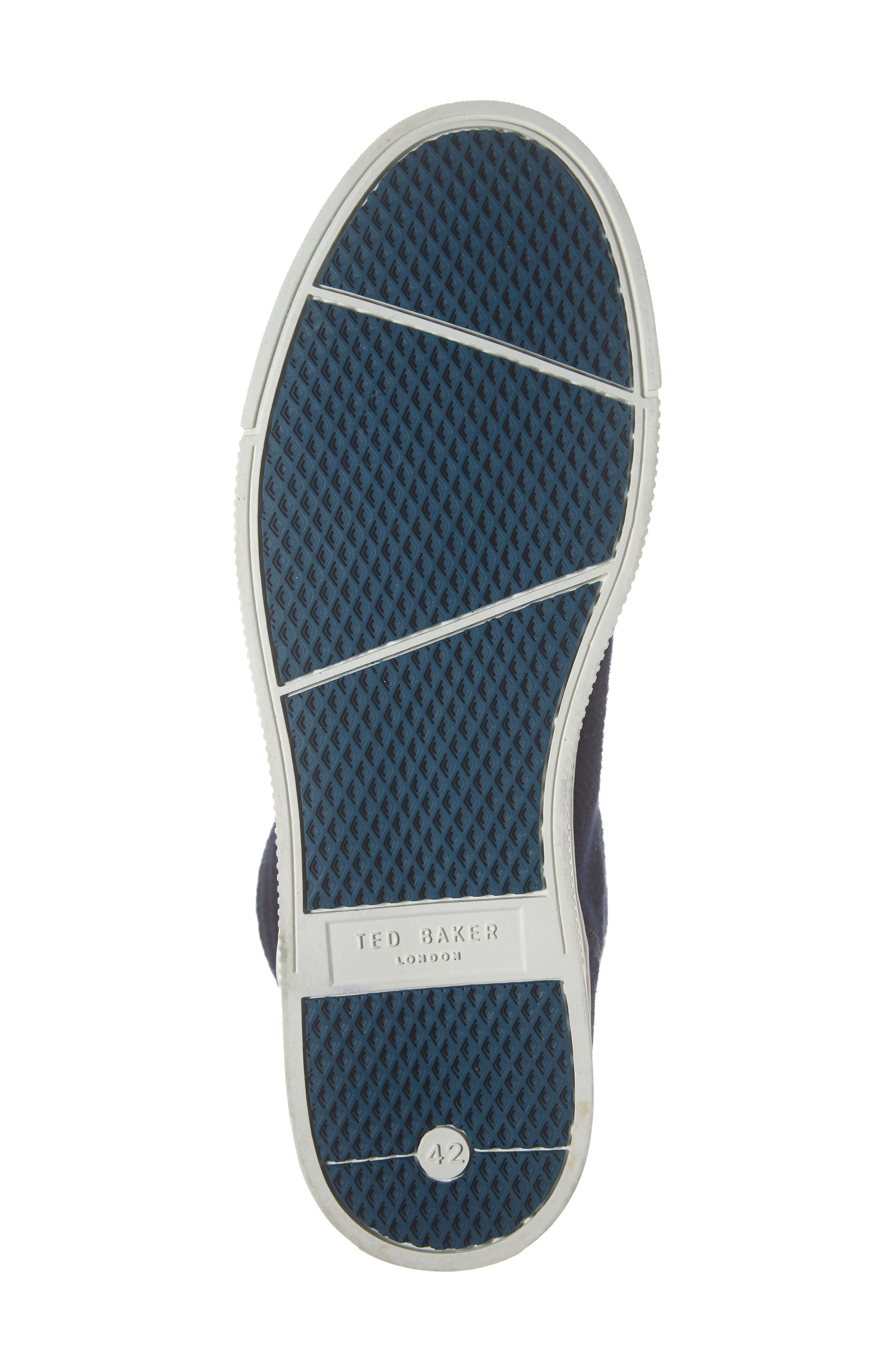 Luckan High Top Sneaker,                             Alternate thumbnail 6, color,                             DARK BLUE FABRIC