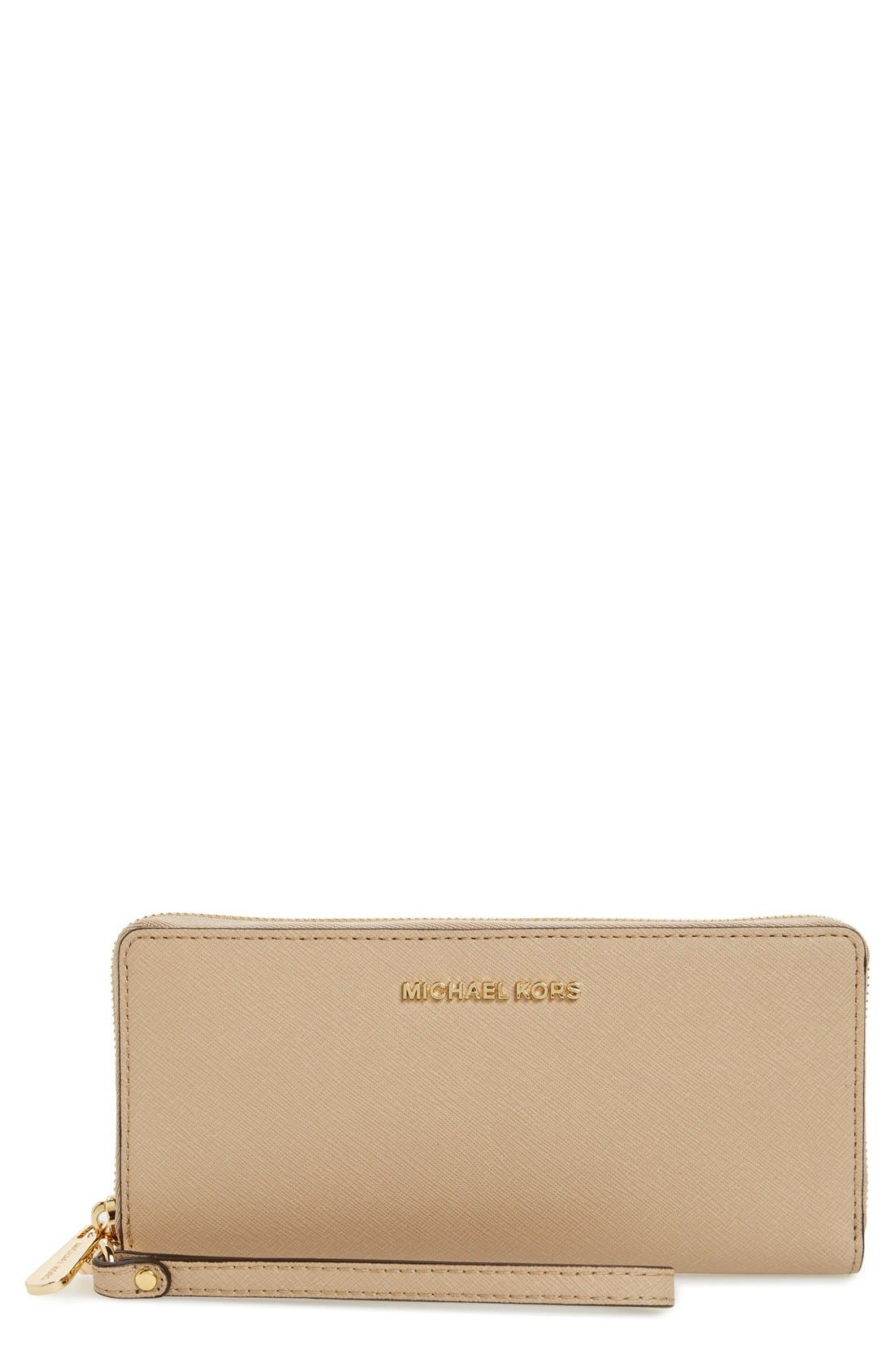 'Jet Set' Leather Travel Wallet,                             Main thumbnail 5, color,
